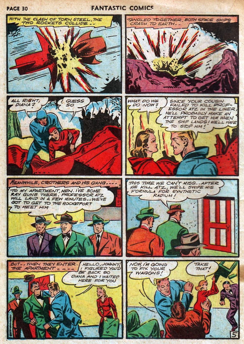 Read online Fantastic Comics comic -  Issue #18 - 32