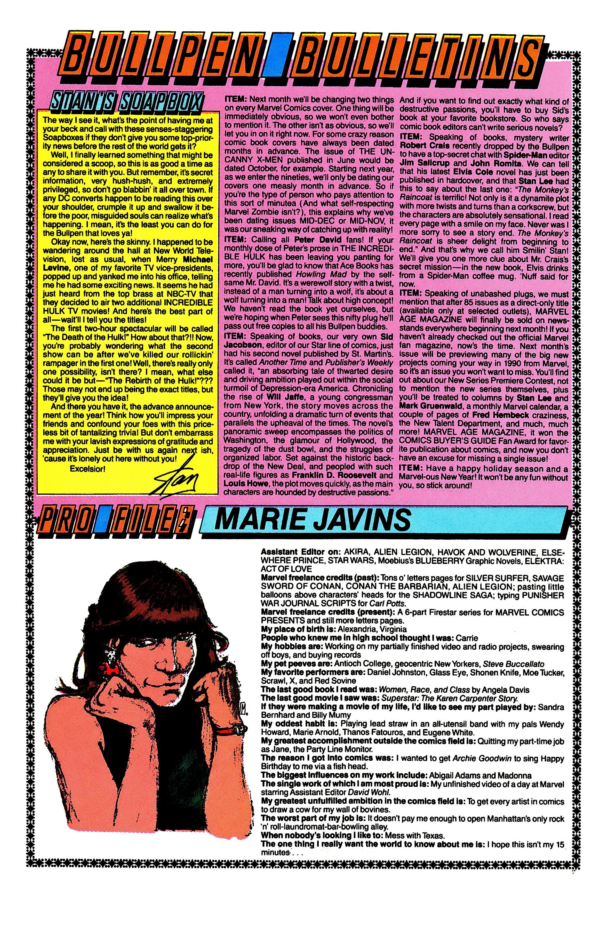 Read online Uncanny X-Men (1963) comic -  Issue #259 - 21