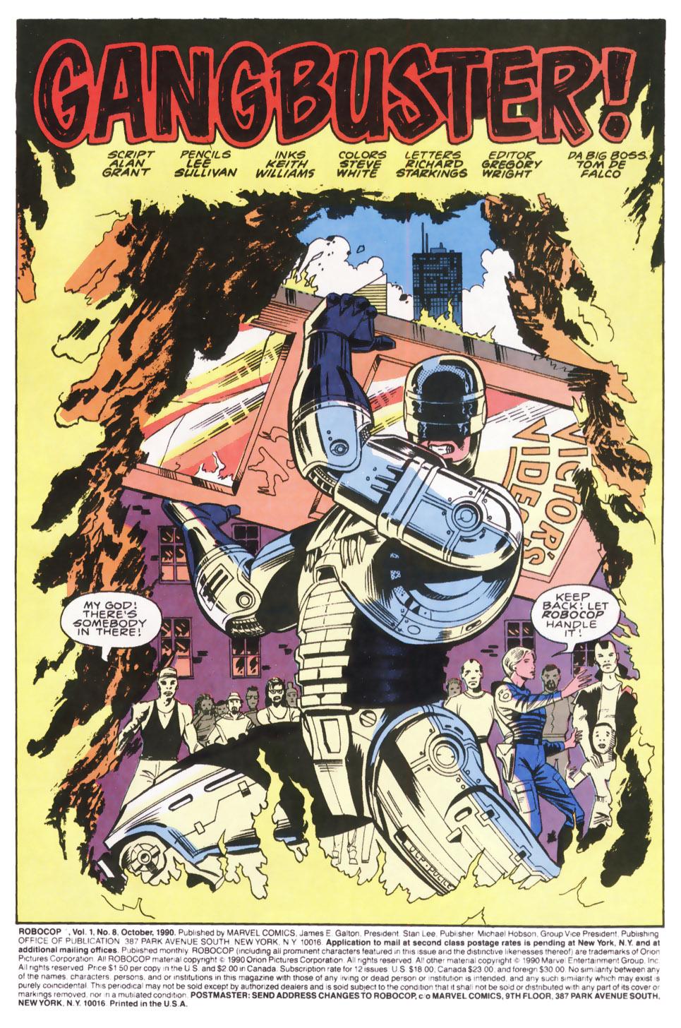 Read online Robocop (1990) comic -  Issue #8 - 2