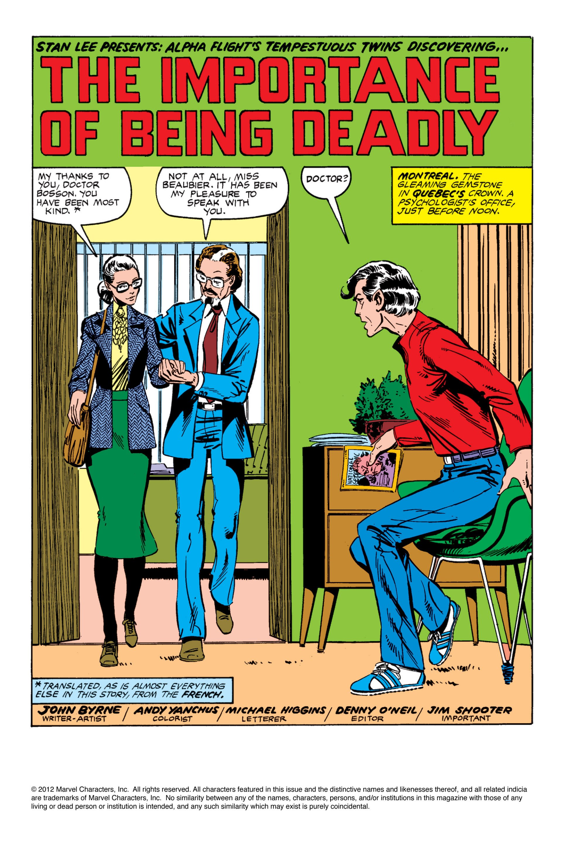 Read online Alpha Flight (1983) comic -  Issue #7 - 2
