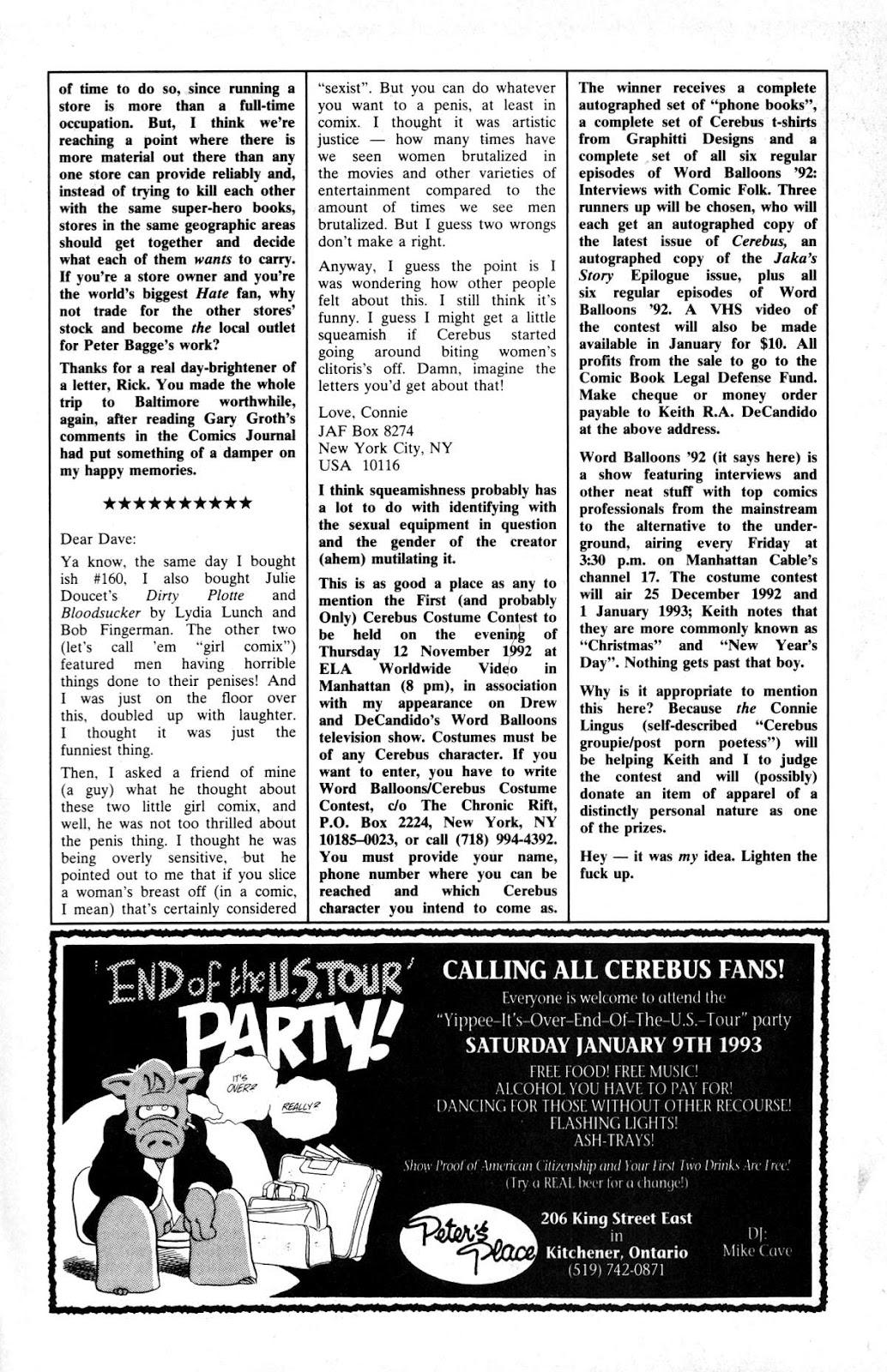Cerebus Issue #163 #162 - English 28
