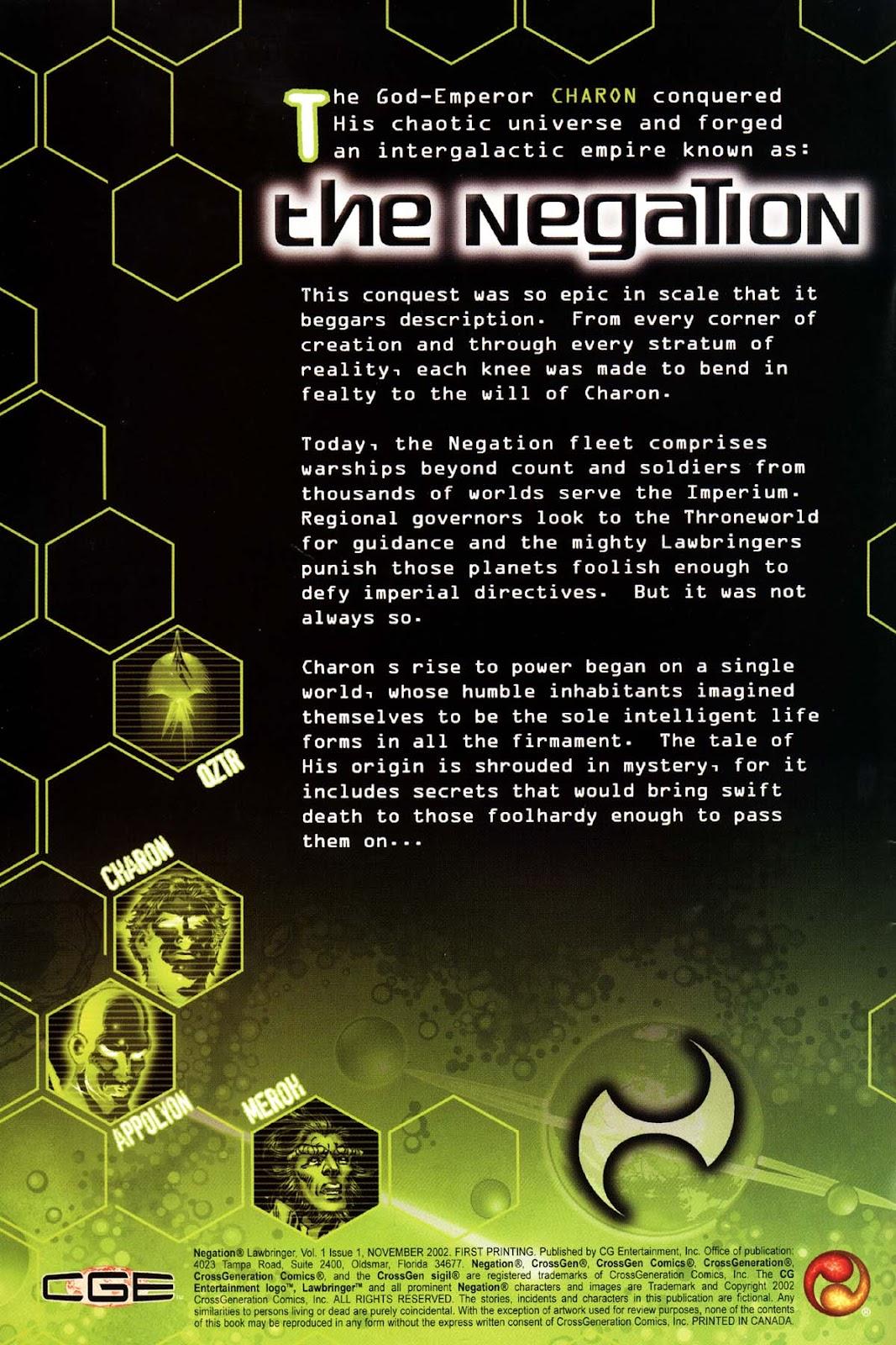 Read online Negation Lawbringer comic -  Issue # Full - 2
