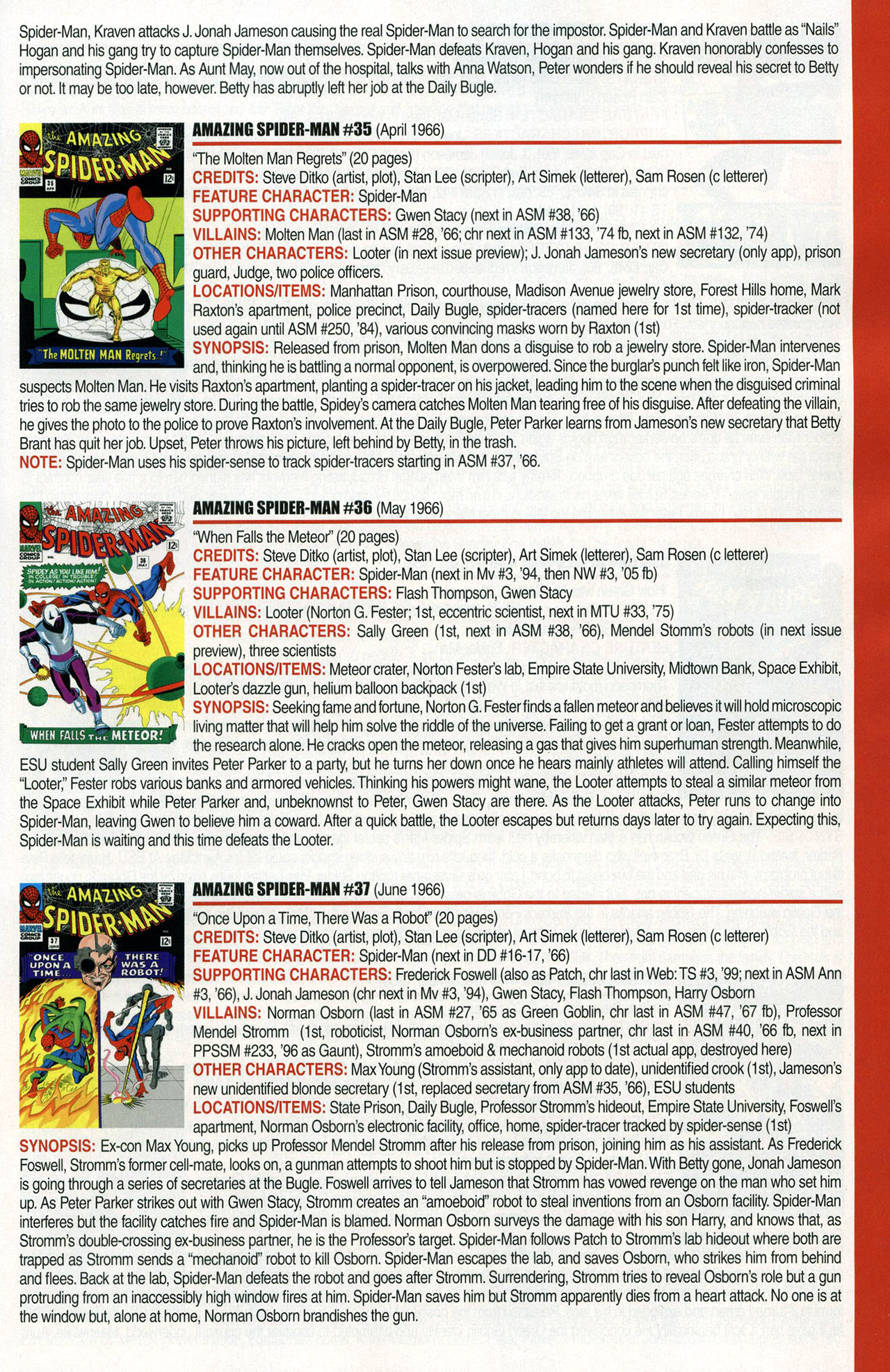Read online Official Index to the Marvel Universe comic -  Issue #1 - 17