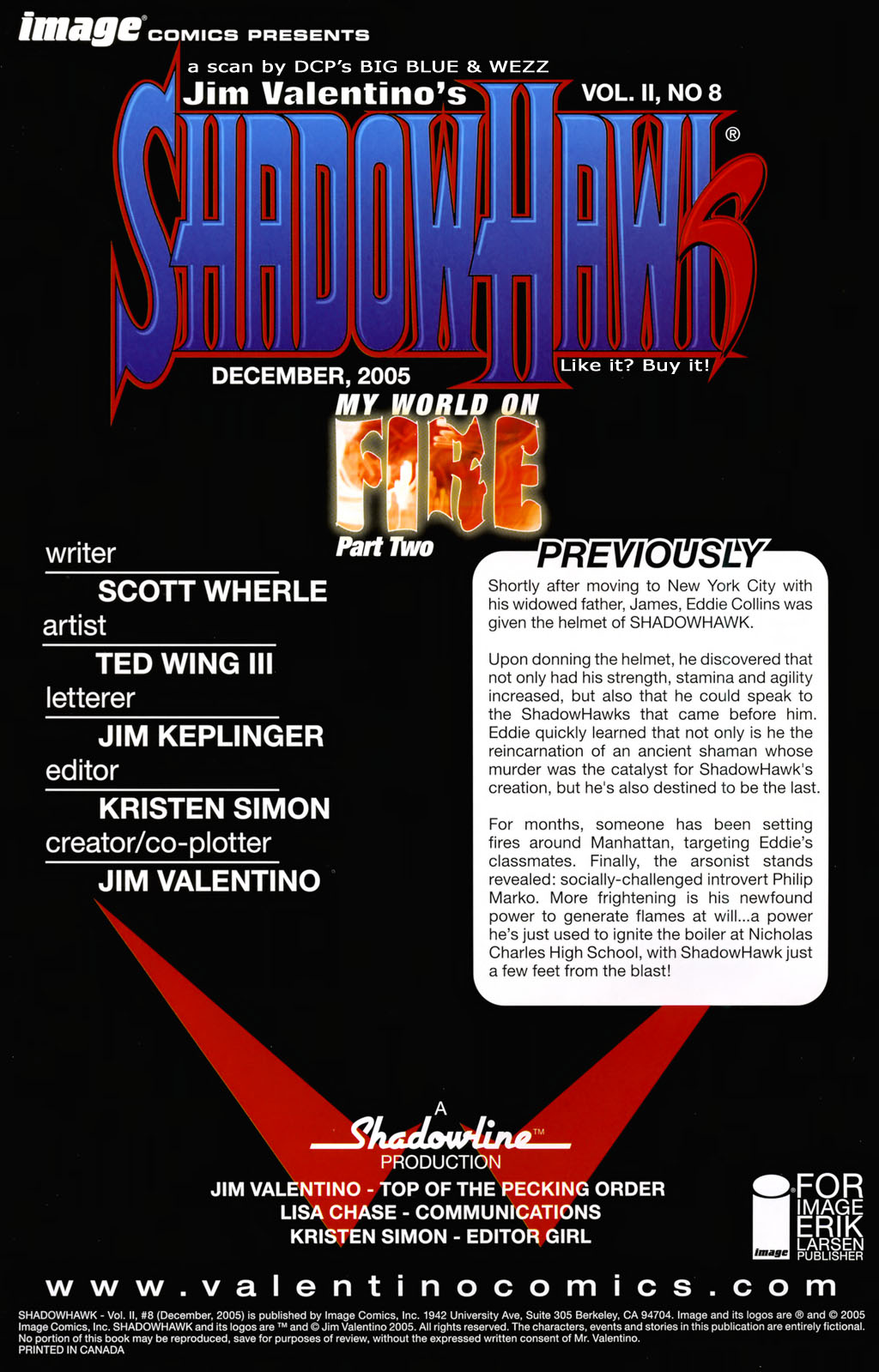 Read online ShadowHawk (2005) comic -  Issue #8 - 2