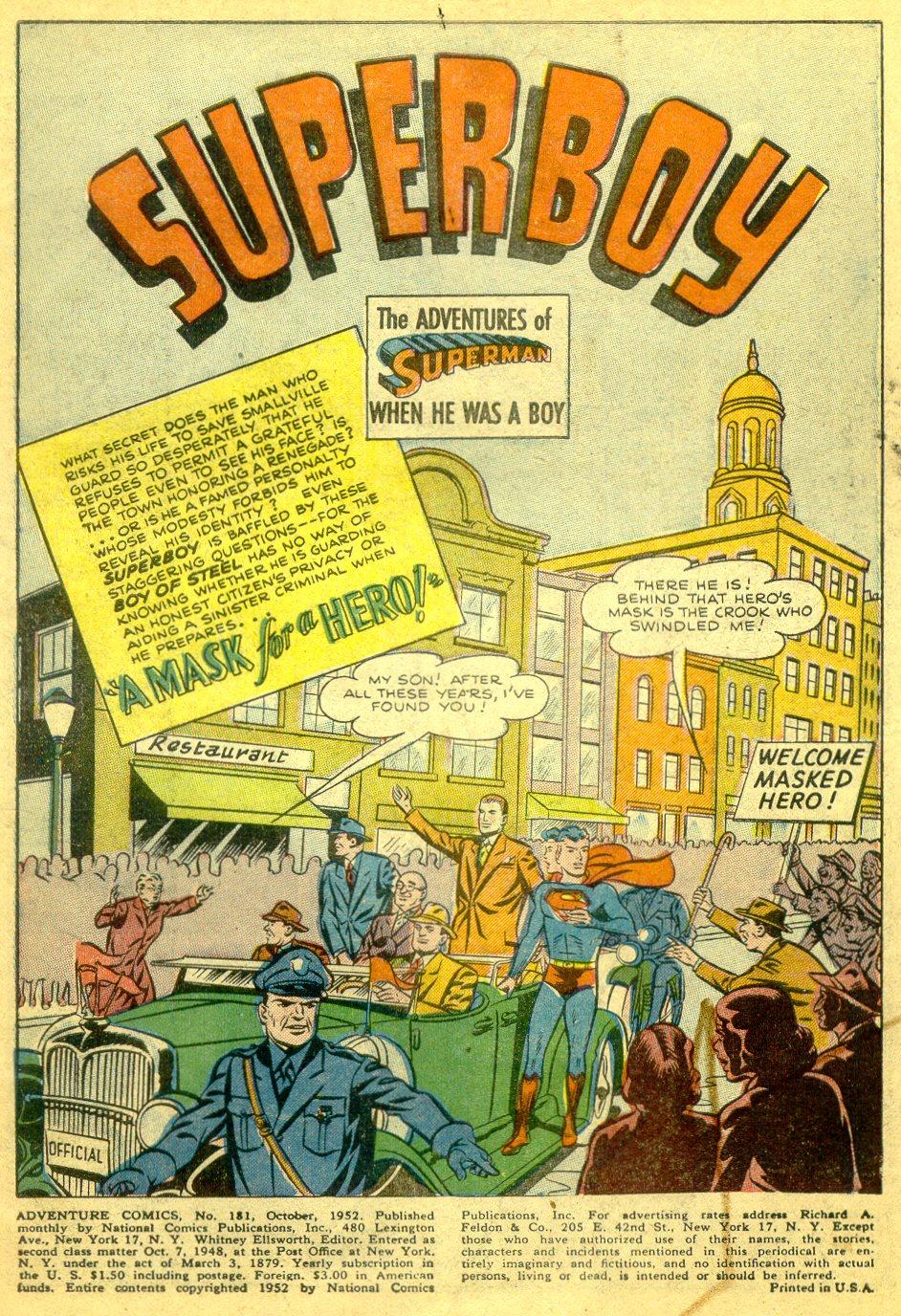 Read online Adventure Comics (1938) comic -  Issue #181 - 2