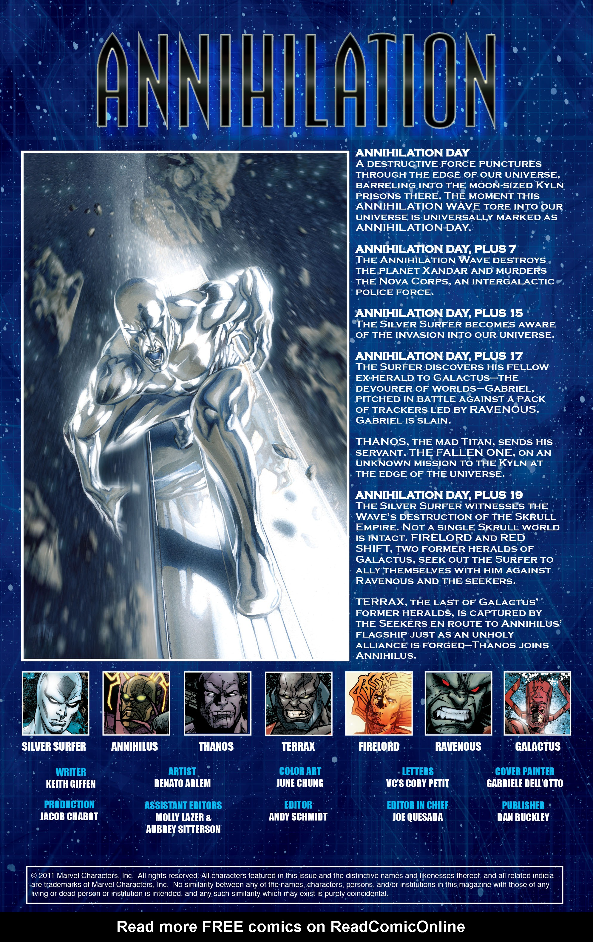 Read online Annihilation: Silver Surfer comic -  Issue #3 - 2