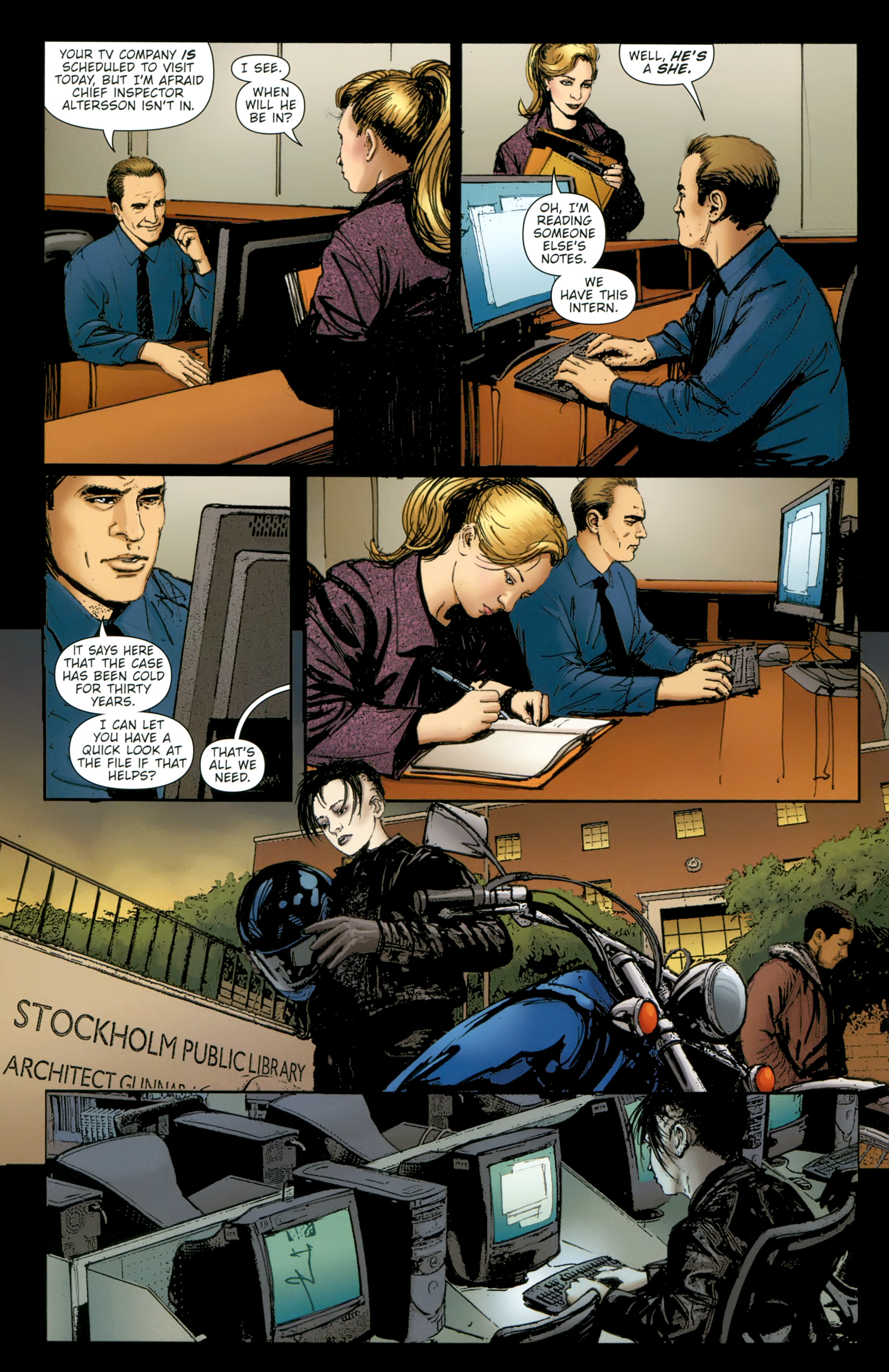 Read online The Girl With the Dragon Tattoo comic -  Issue # TPB 2 - 56