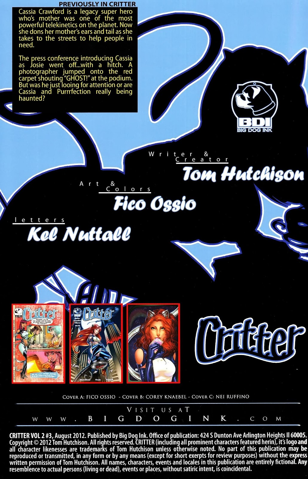 Read online Critter (2012) comic -  Issue #3 - 2