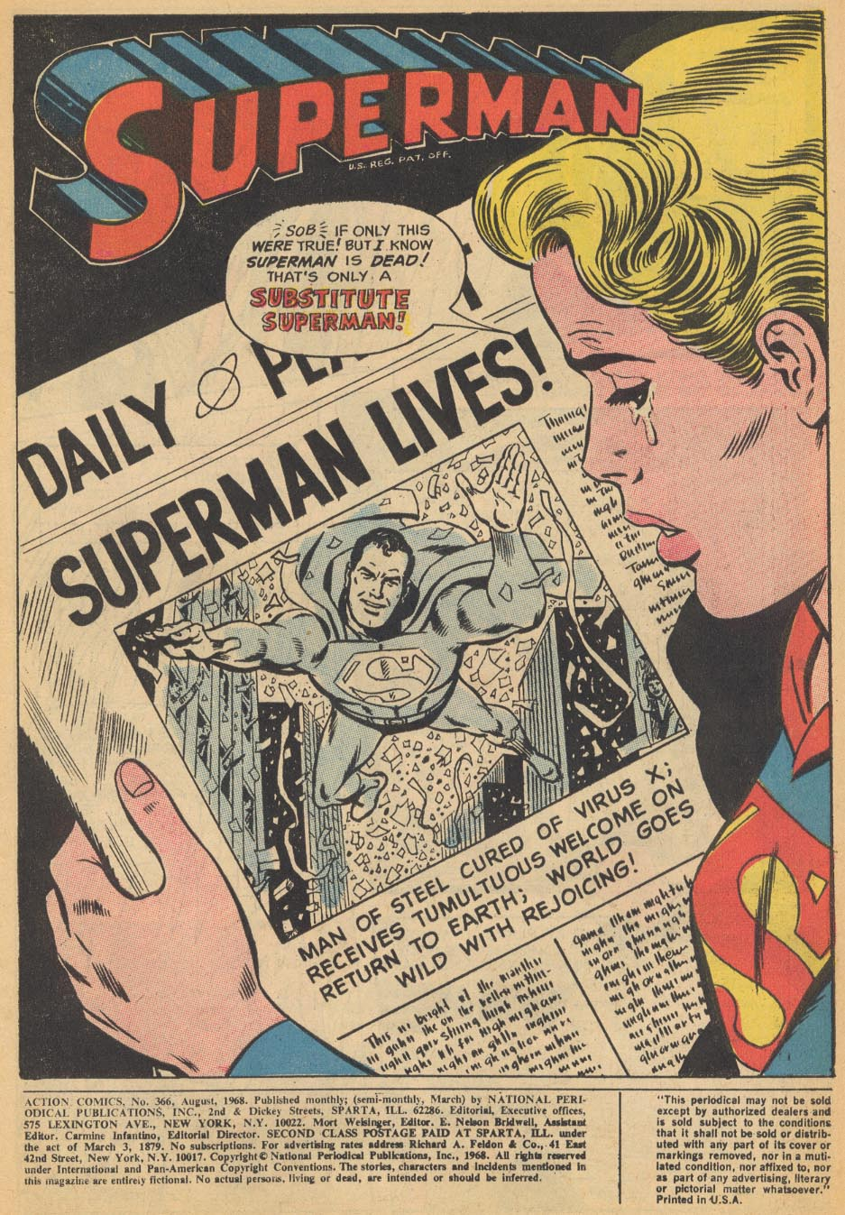 Read online Action Comics (1938) comic -  Issue #366 - 3