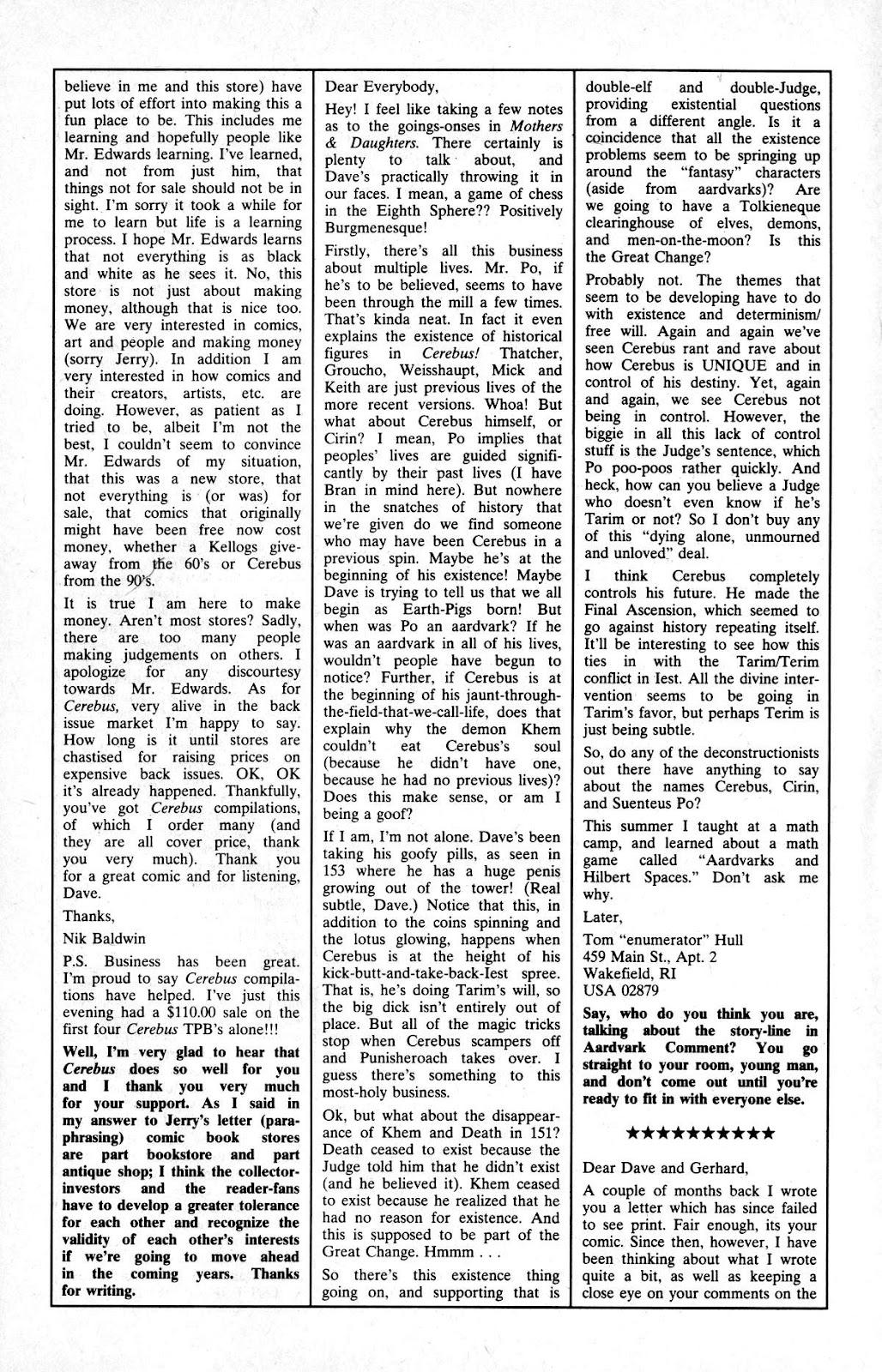 Cerebus Issue #163 #162 - English 25