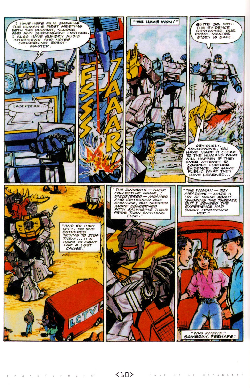 Read online The Transformers: Best of UK: Dinobots comic -  Issue #6 - 13