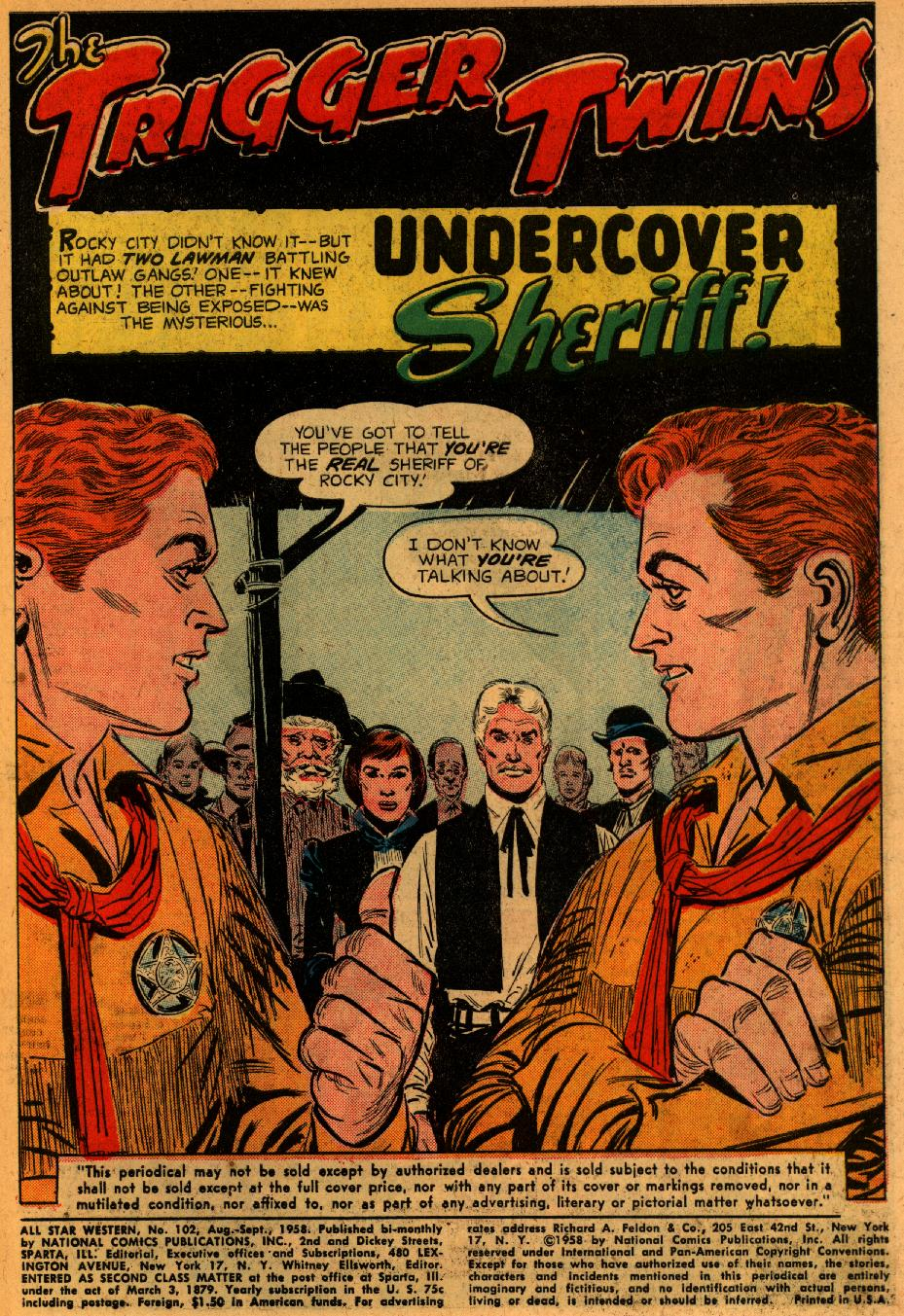 Read online All-Star Western (1951) comic -  Issue #102 - 3