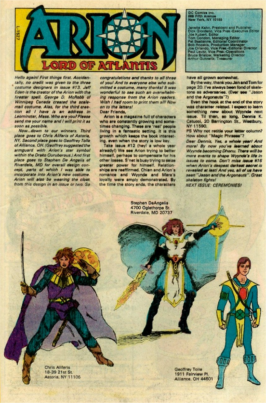 Read online Arion, Lord of Atlantis comic -  Issue #15 - 25