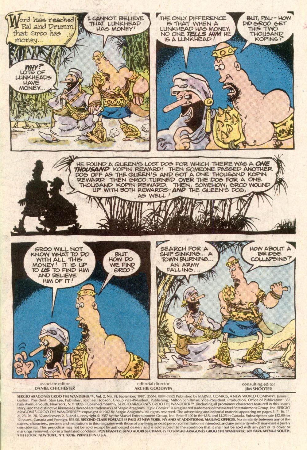 Read online Sergio Aragonés Groo the Wanderer comic -  Issue #31 - 2