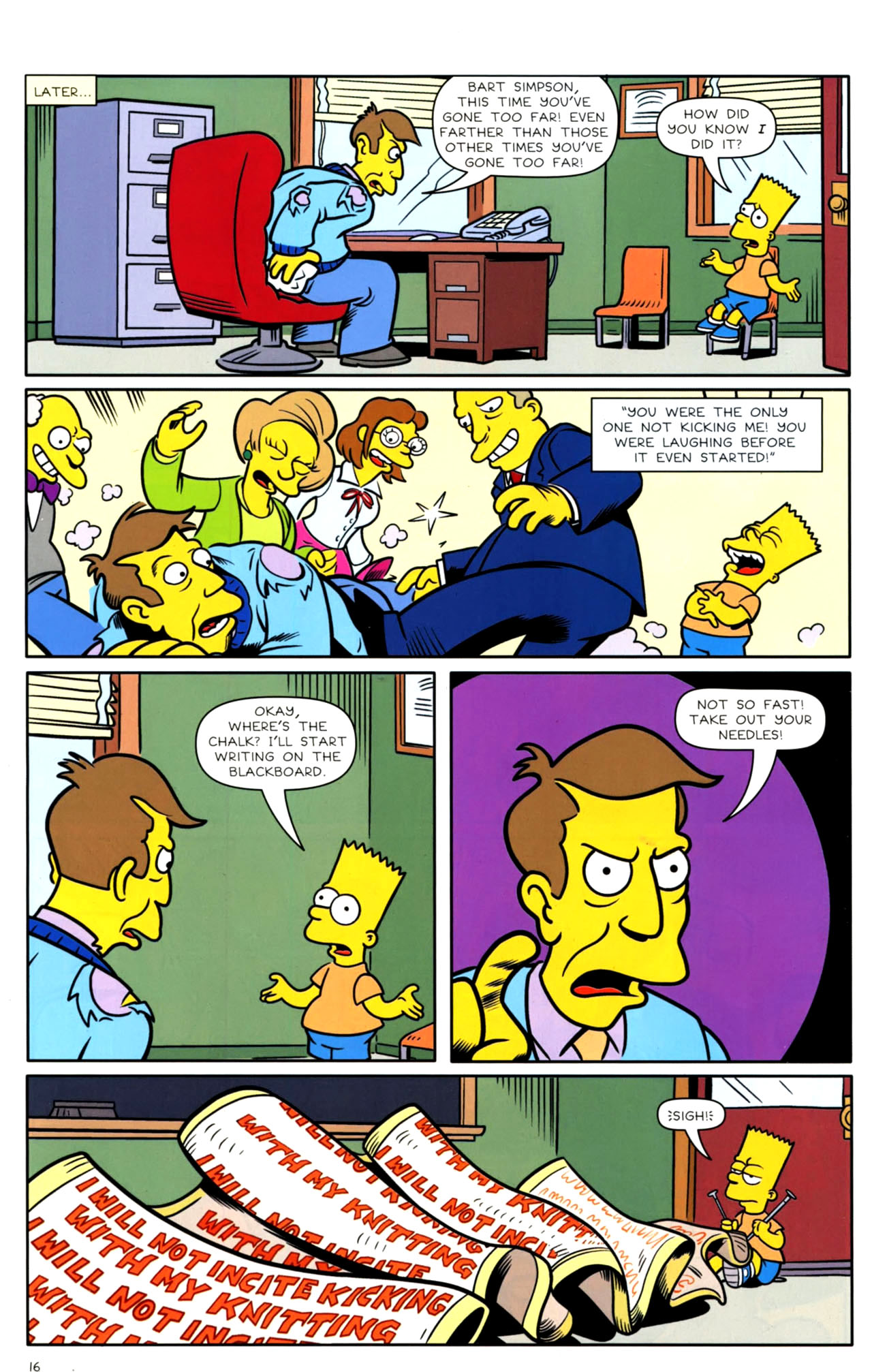 Read online Bongo Comics presents Comic Book Guy: The Comic Book comic -  Issue #4 - 18