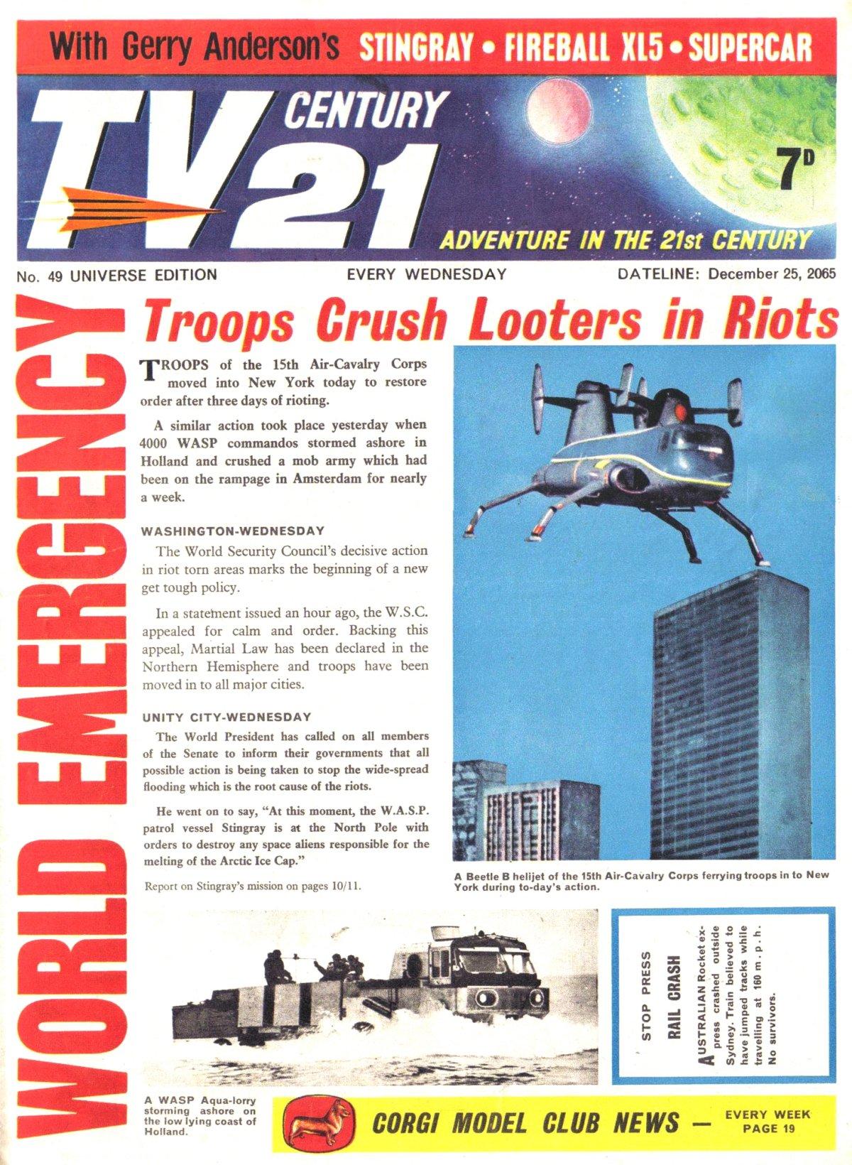 Read online TV Century 21 (TV 21) comic -  Issue #49 - 1
