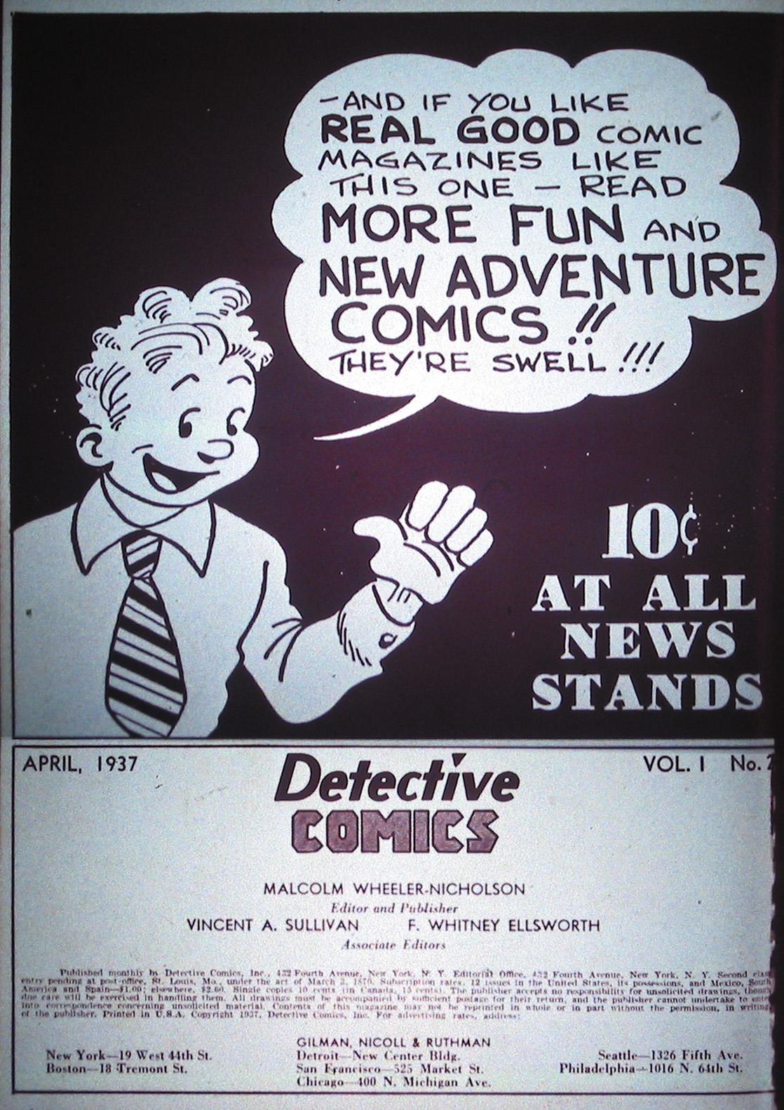 Detective Comics (1937) 2 Page 1