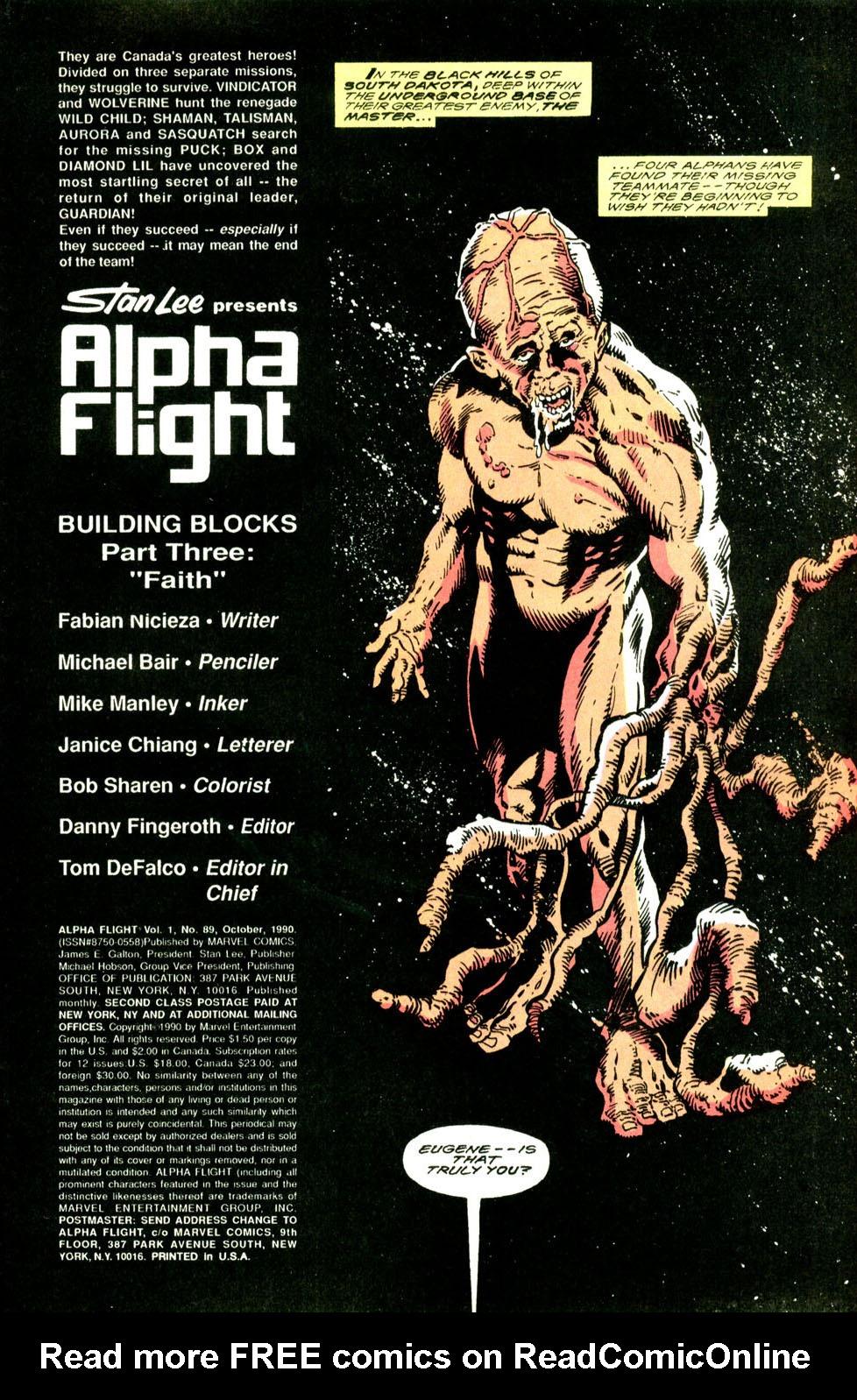 Read online Alpha Flight (1983) comic -  Issue #89 - 3