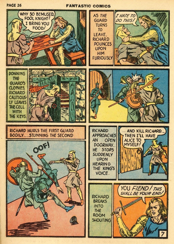 Read online Fantastic Comics comic -  Issue #10 - 27