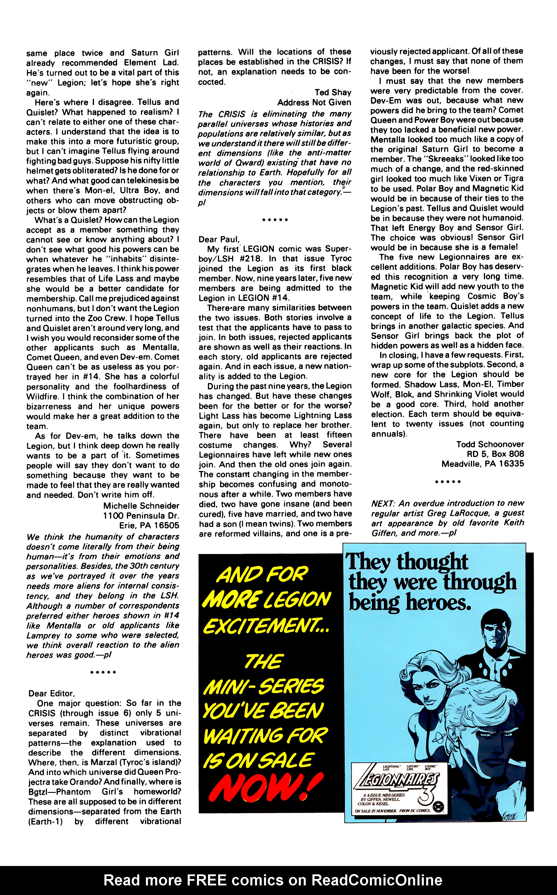 Legion of Super-Heroes (1984) 19 Page 31