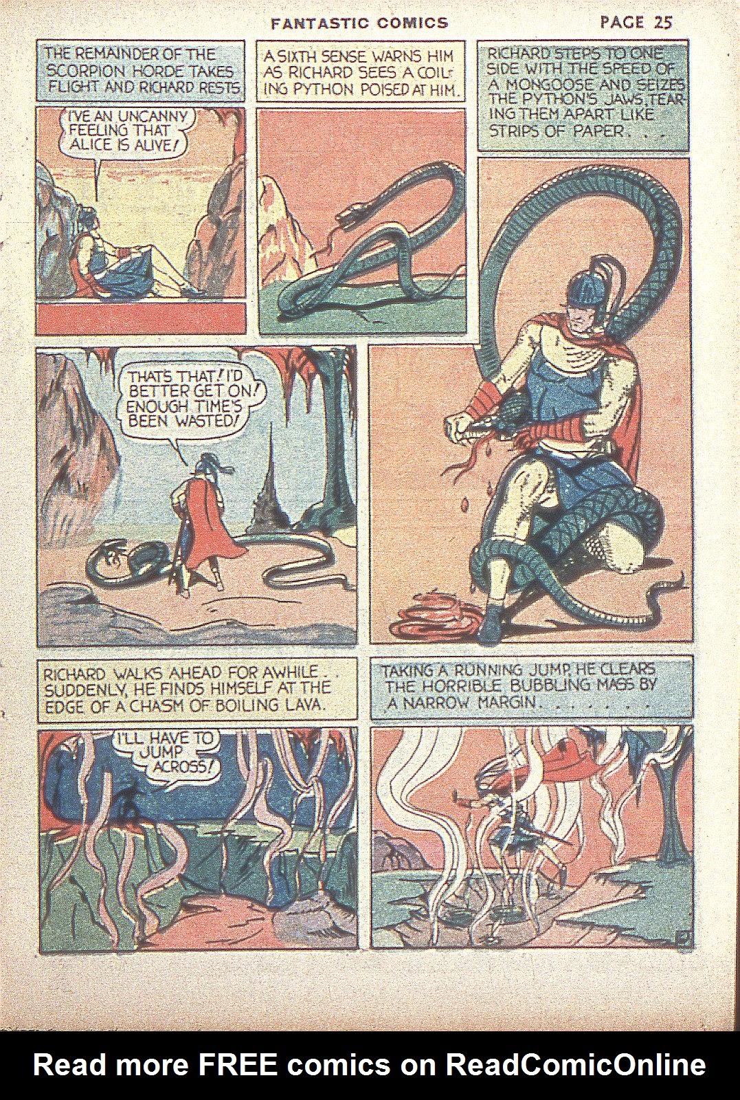 Read online Fantastic Comics comic -  Issue #4 - 27