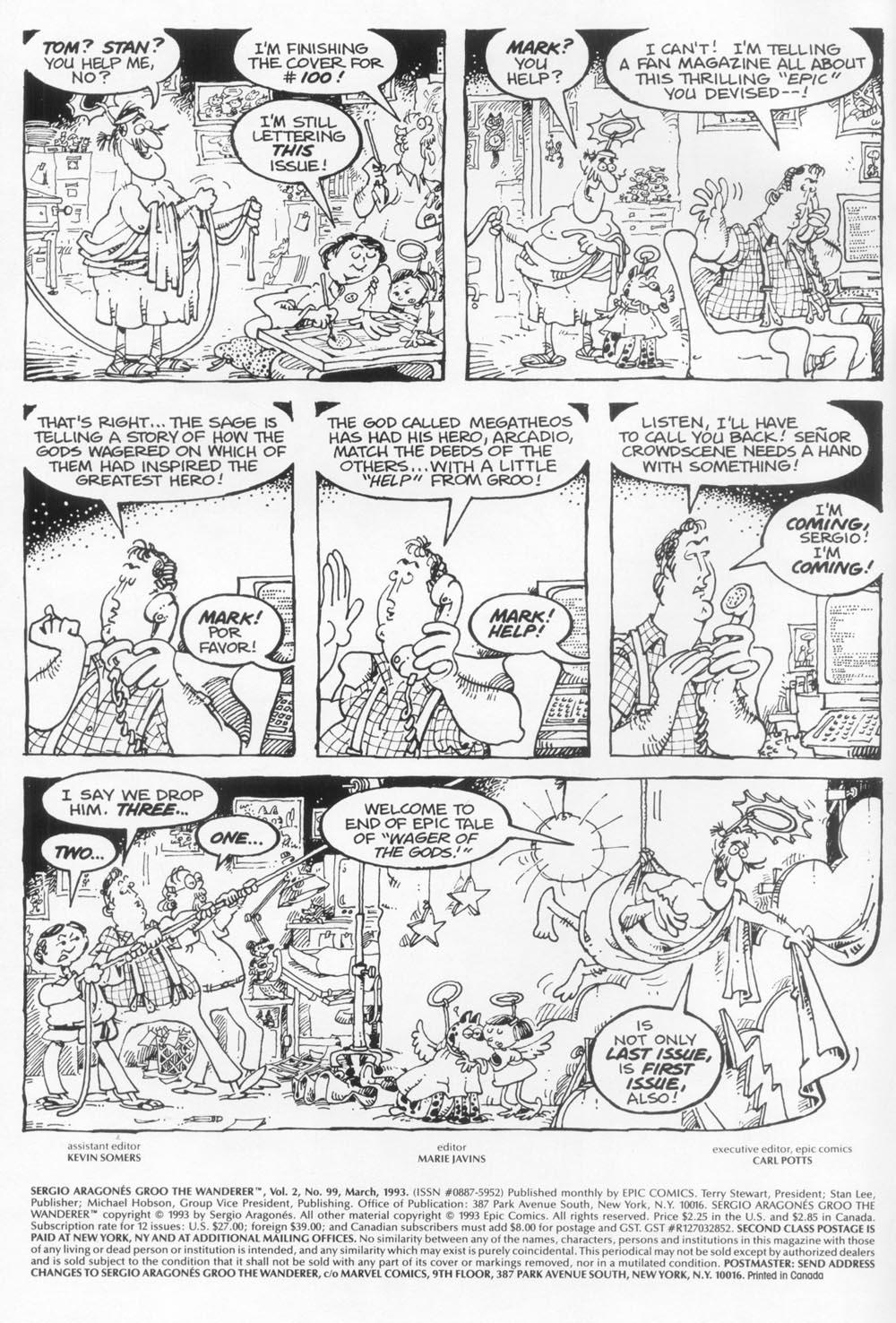 Read online Sergio Aragonés Groo the Wanderer comic -  Issue #99 - 2