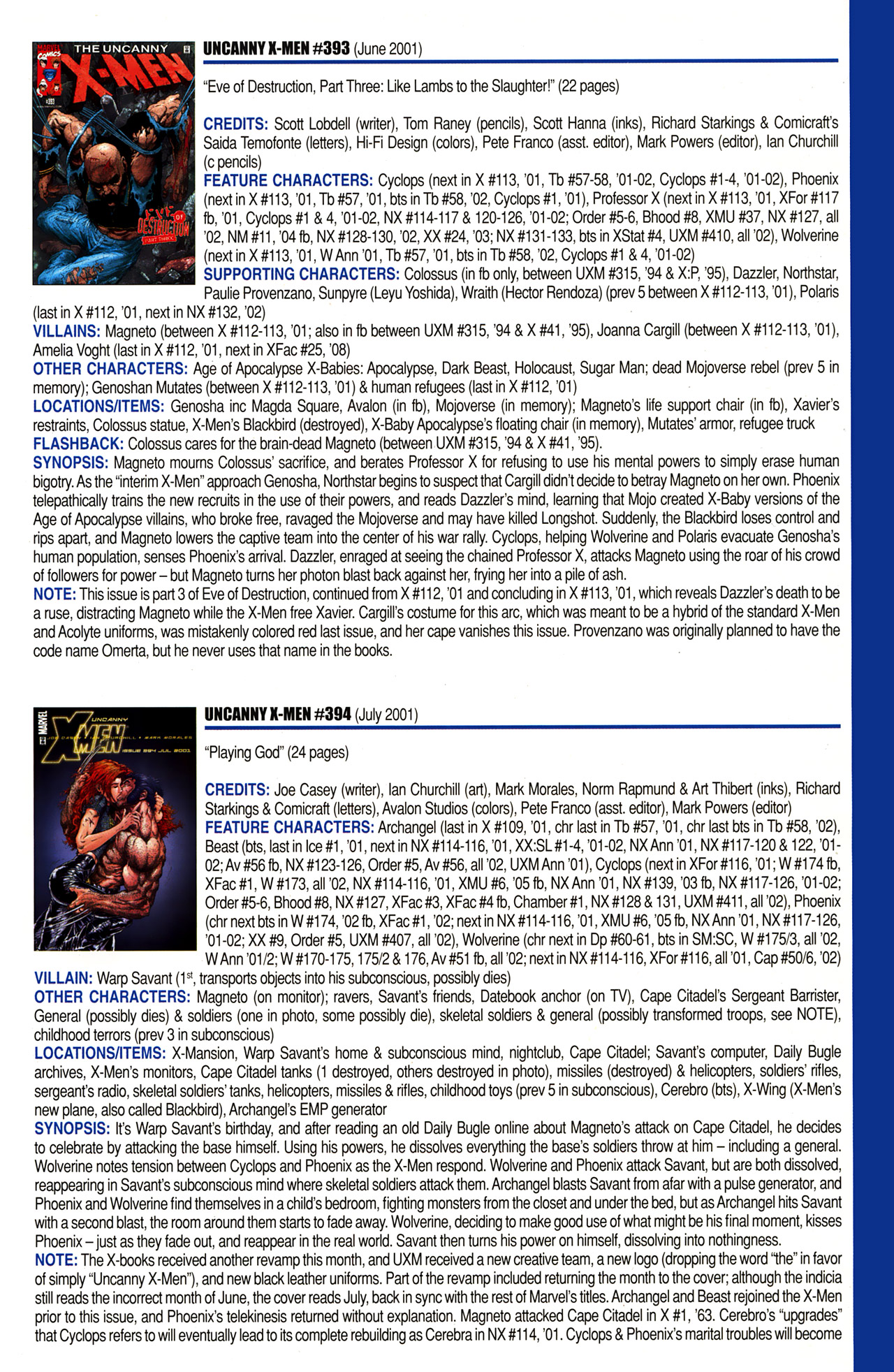 Read online Official Index to the Marvel Universe comic -  Issue #10 - 57
