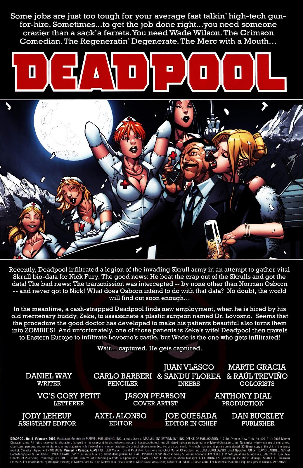 Read online Deadpool (2008) comic -  Issue #5 - 2