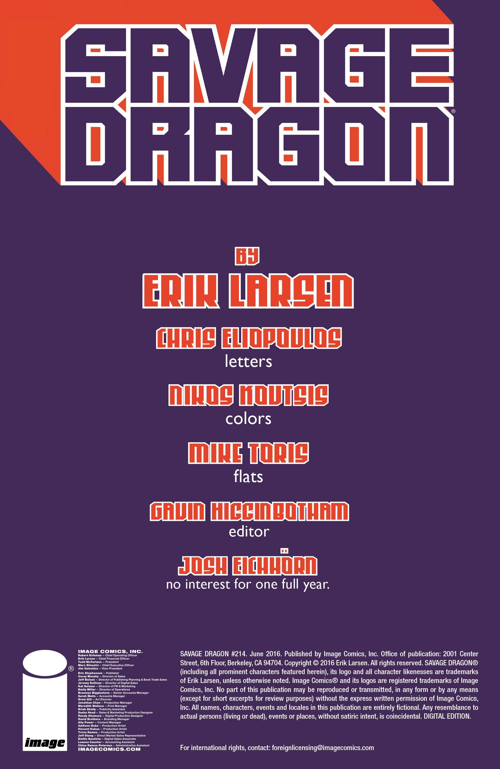 The Savage Dragon (1993) 214 Page 2