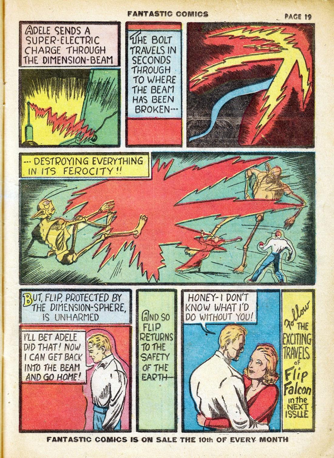 Read online Fantastic Comics comic -  Issue #7 - 21