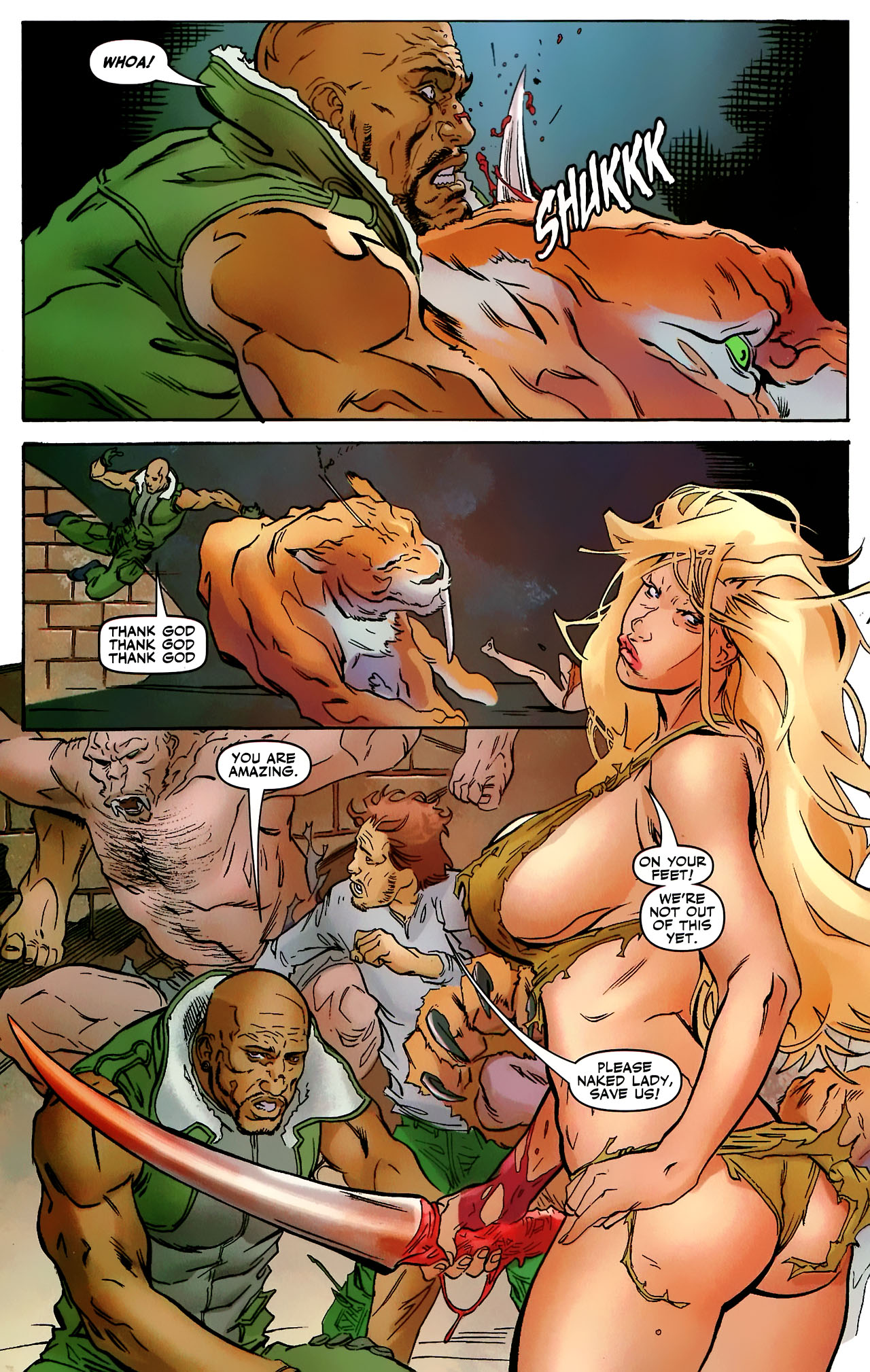 Read online Shanna the She-Devil: Survival of the Fittest comic -  Issue #3 - 8