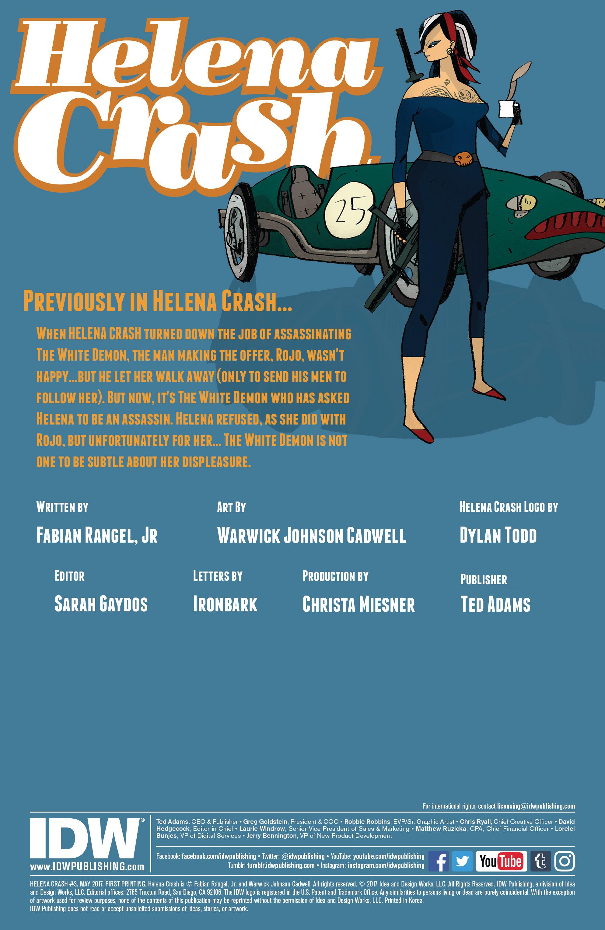 Read online Helena Crash comic -  Issue #3 - 2