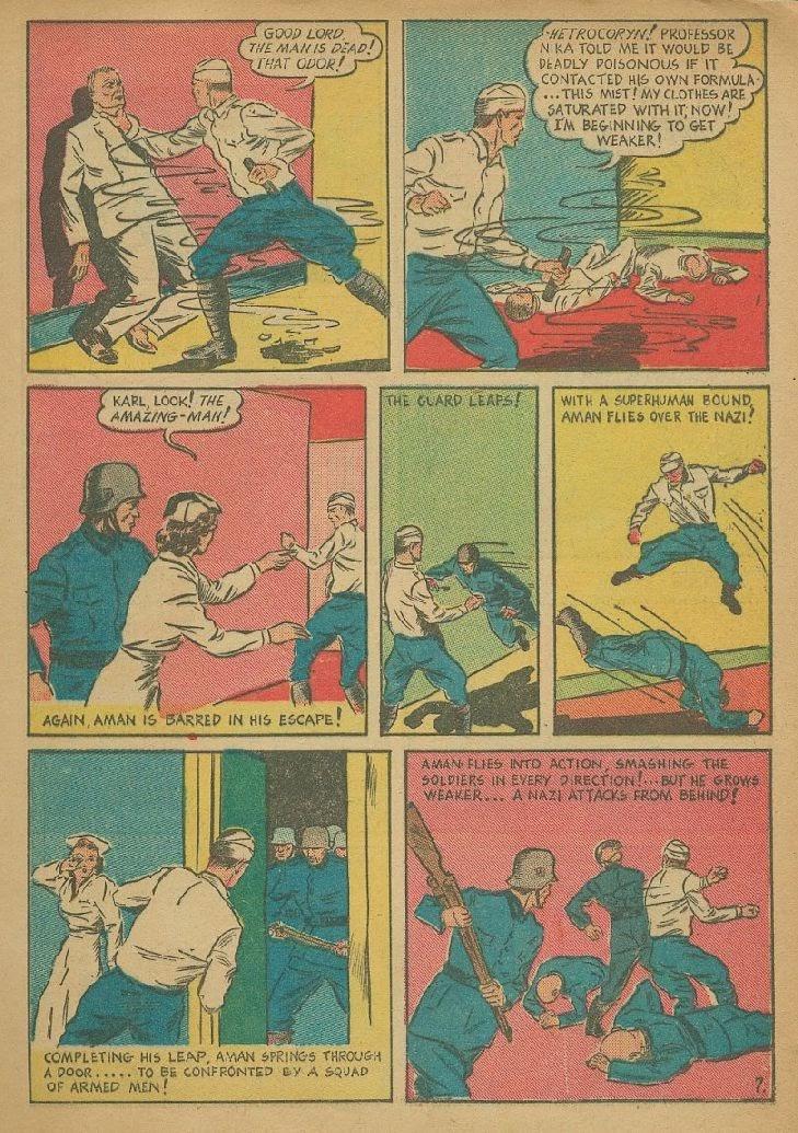 Read online Amazing Man Comics comic -  Issue #9 - 10