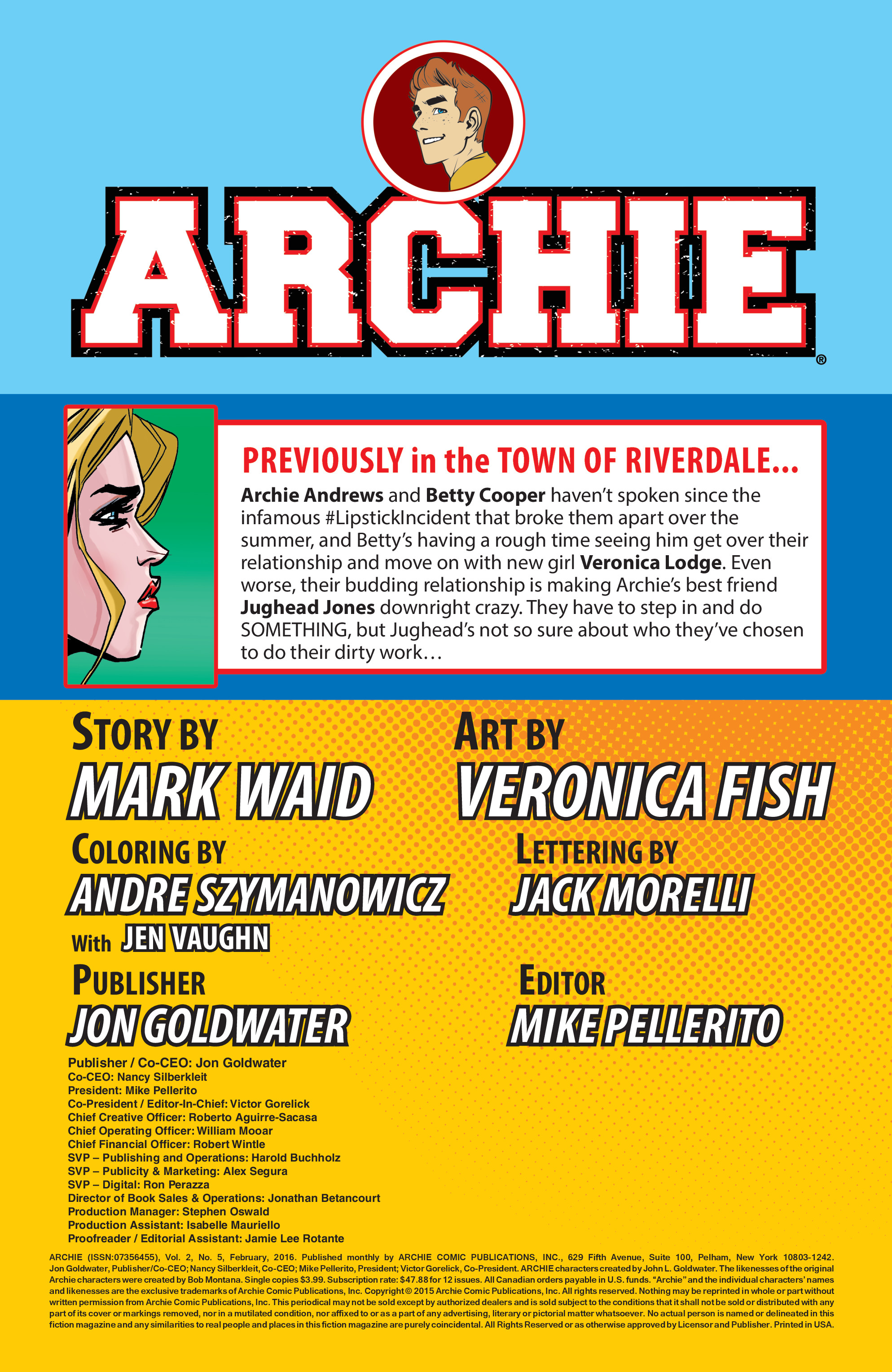 Read online Archie (2015) comic -  Issue #5 - 2