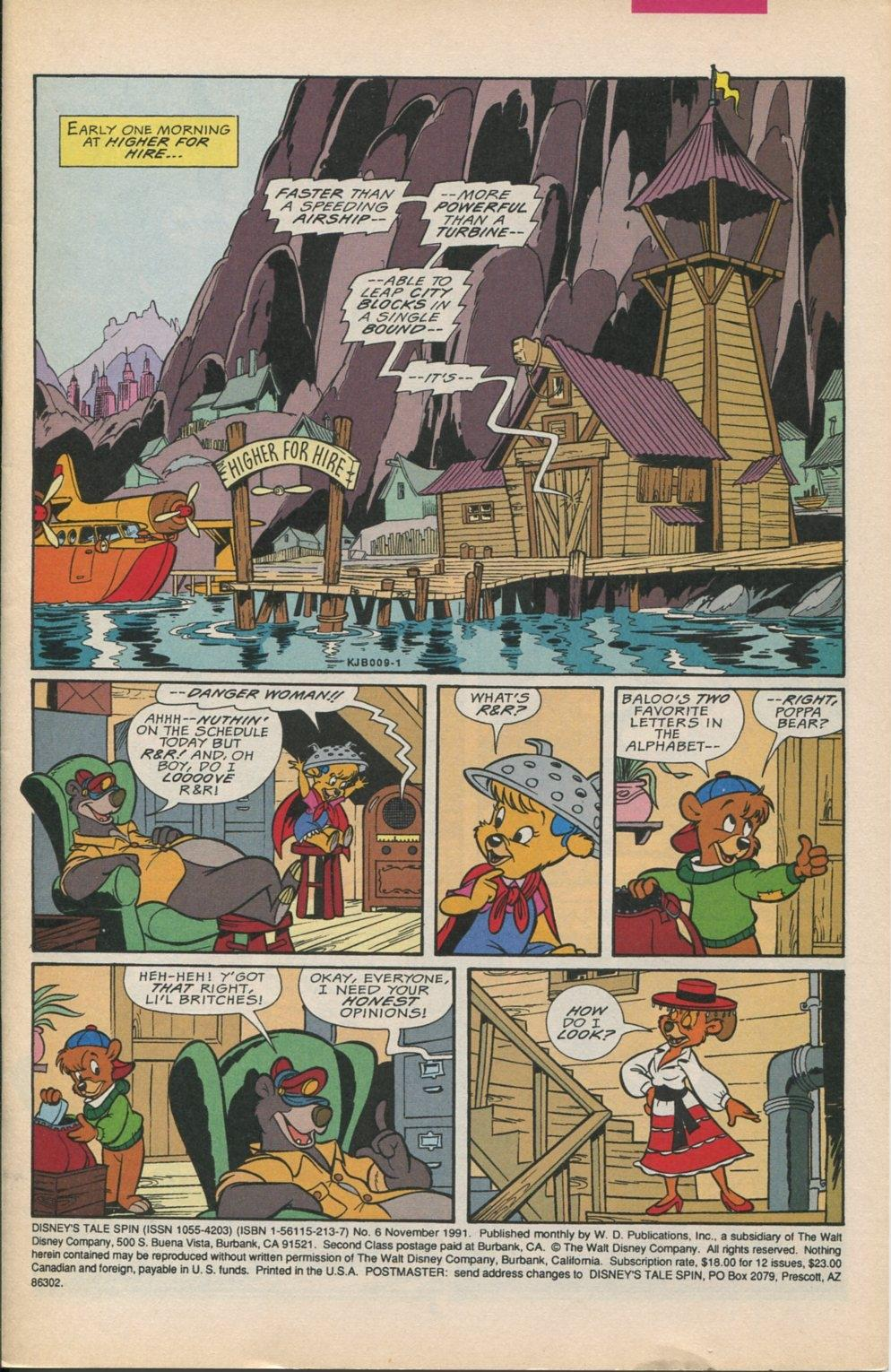 Read online Disney's Tale Spin comic -  Issue #6 - 2