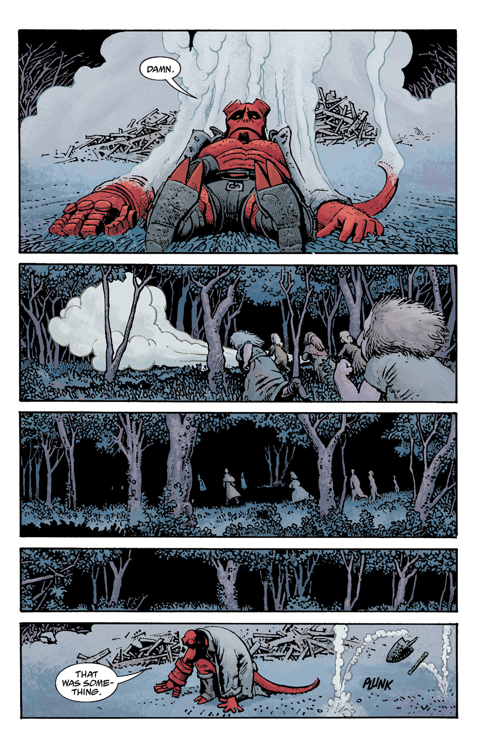 Read online Hellboy: The Crooked Man and Others comic -  Issue # TPB - 75