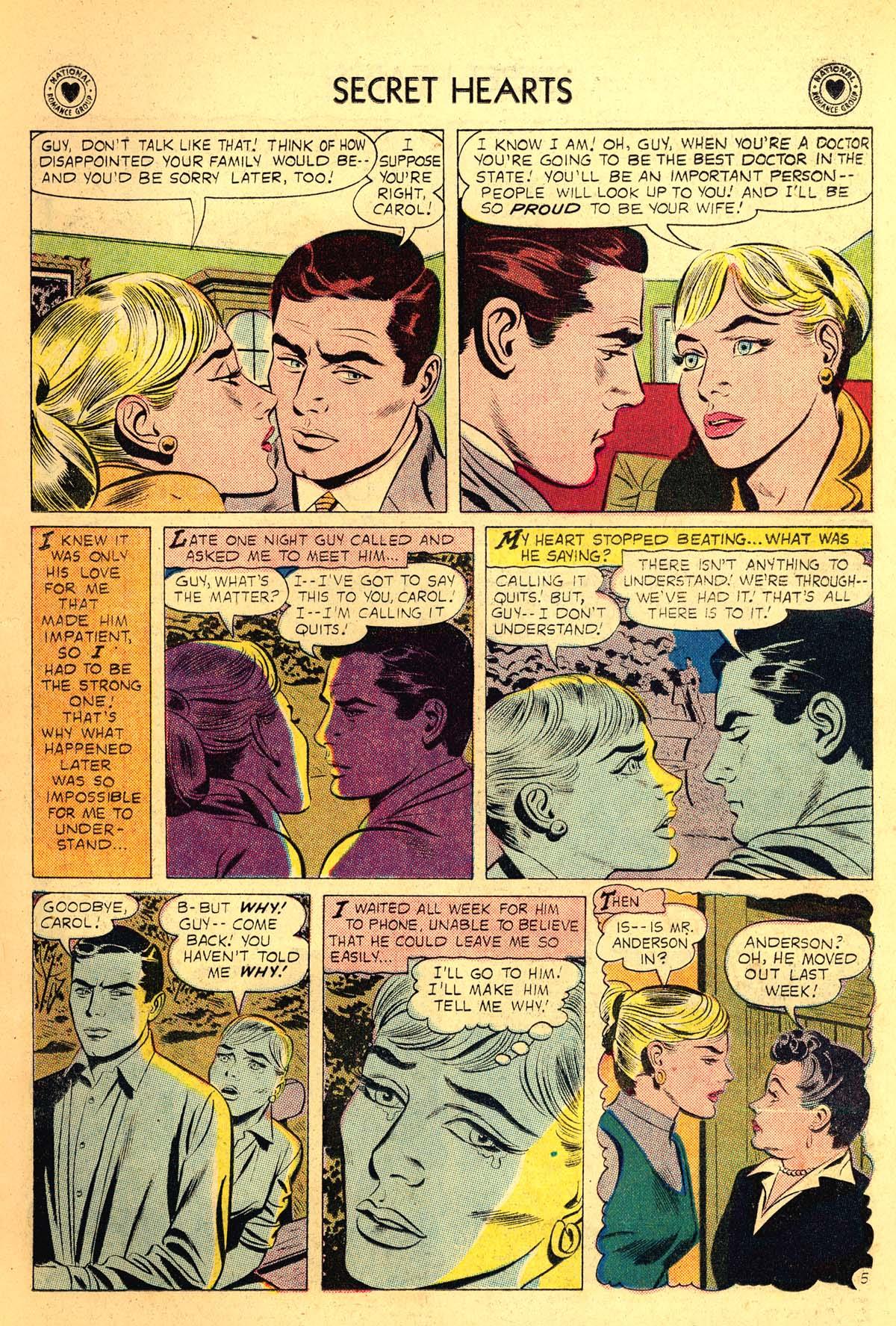 Read online Secret Hearts comic -  Issue #54 - 7