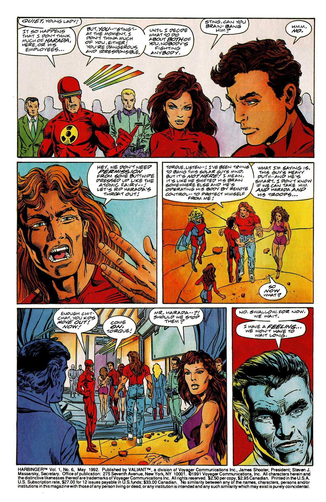 Read online Harbinger (1992) comic -  Issue #6 - 3