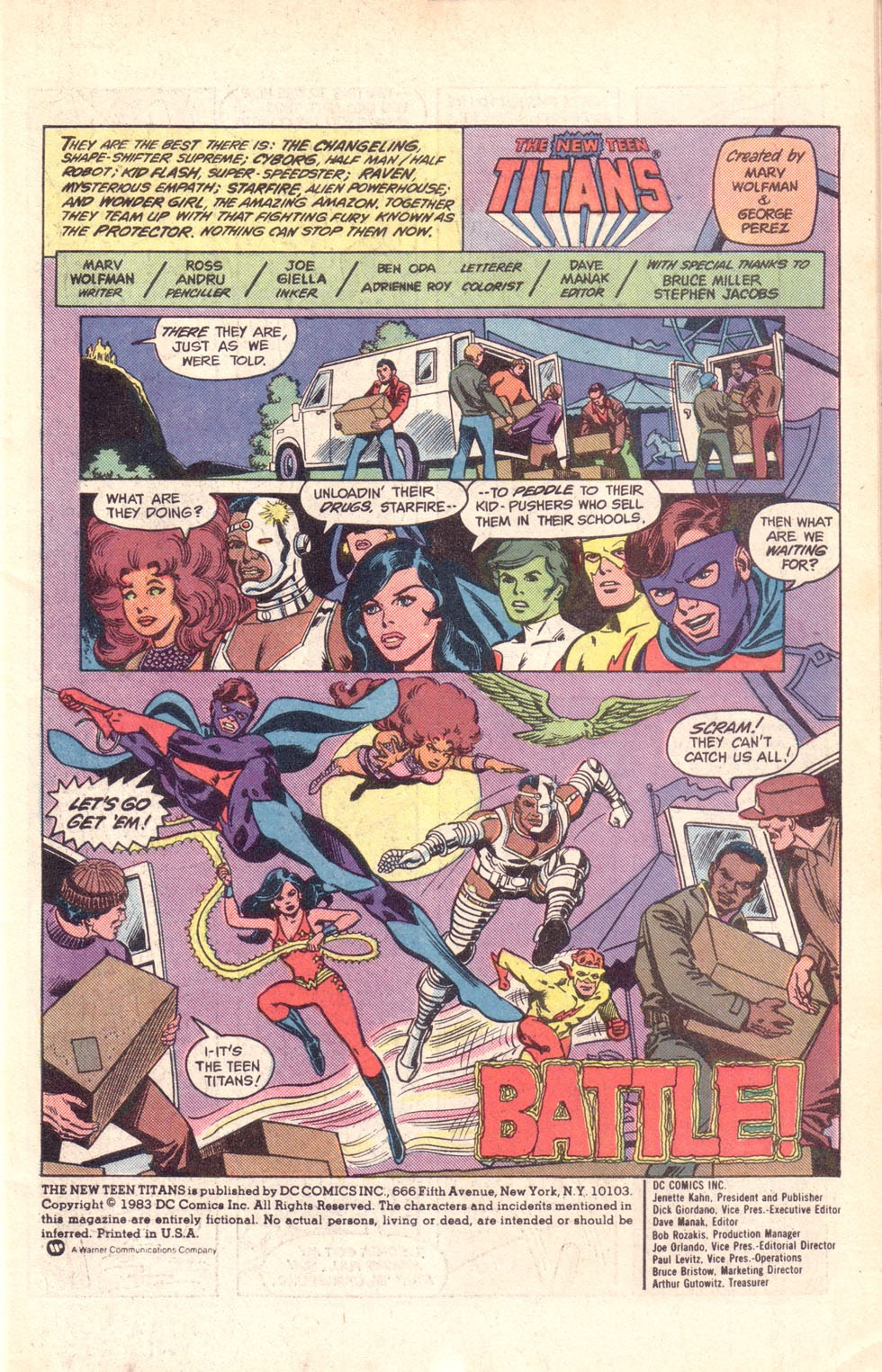 Read online The New Teen Titans (Drug Awareness Specials) comic -  Issue #1 - 3