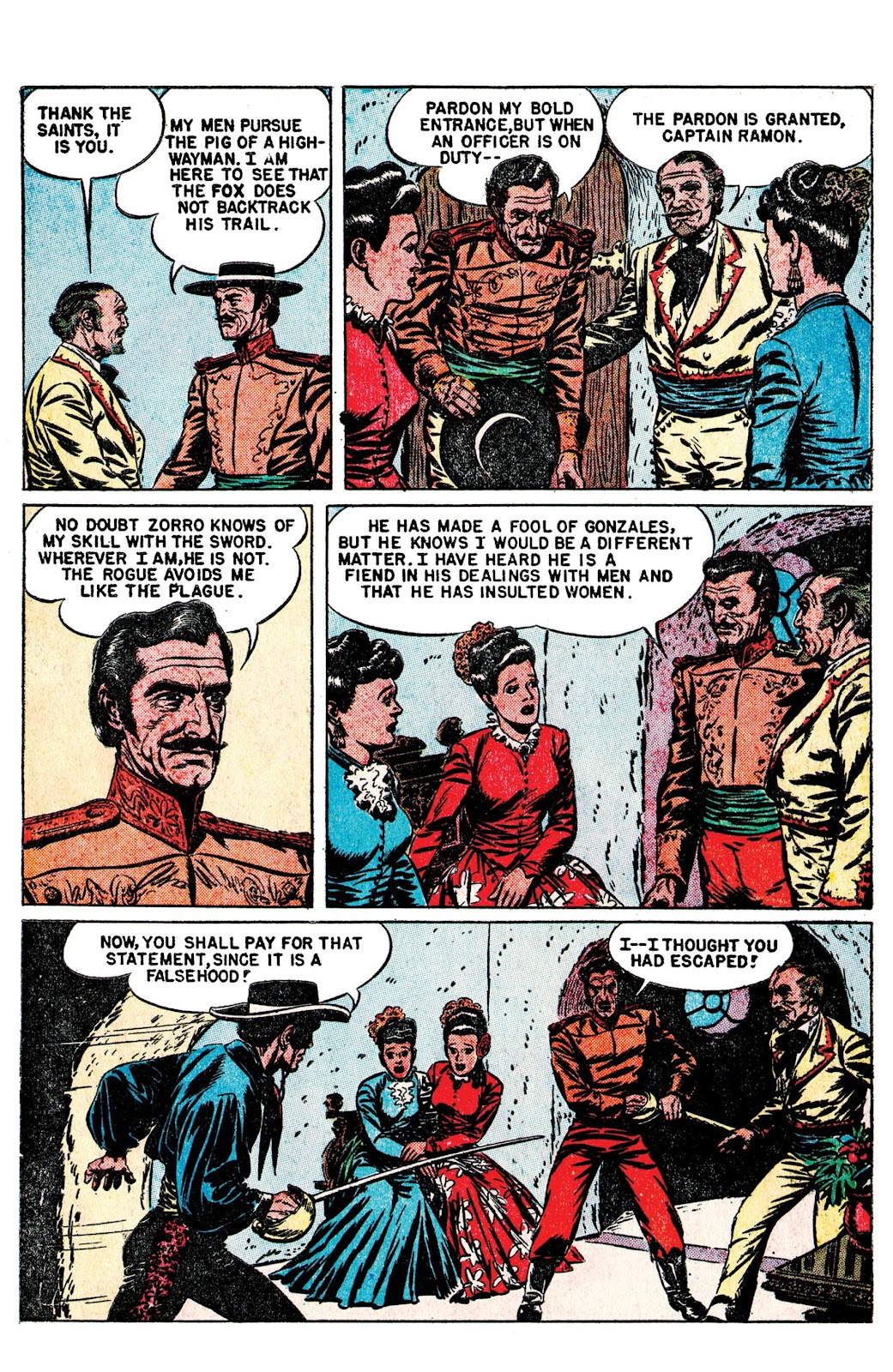 Read online AM Archives: The Mark of Zorro #1 1949 Dell Edition comic -  Issue #1 1949 Dell Edition Full - 10