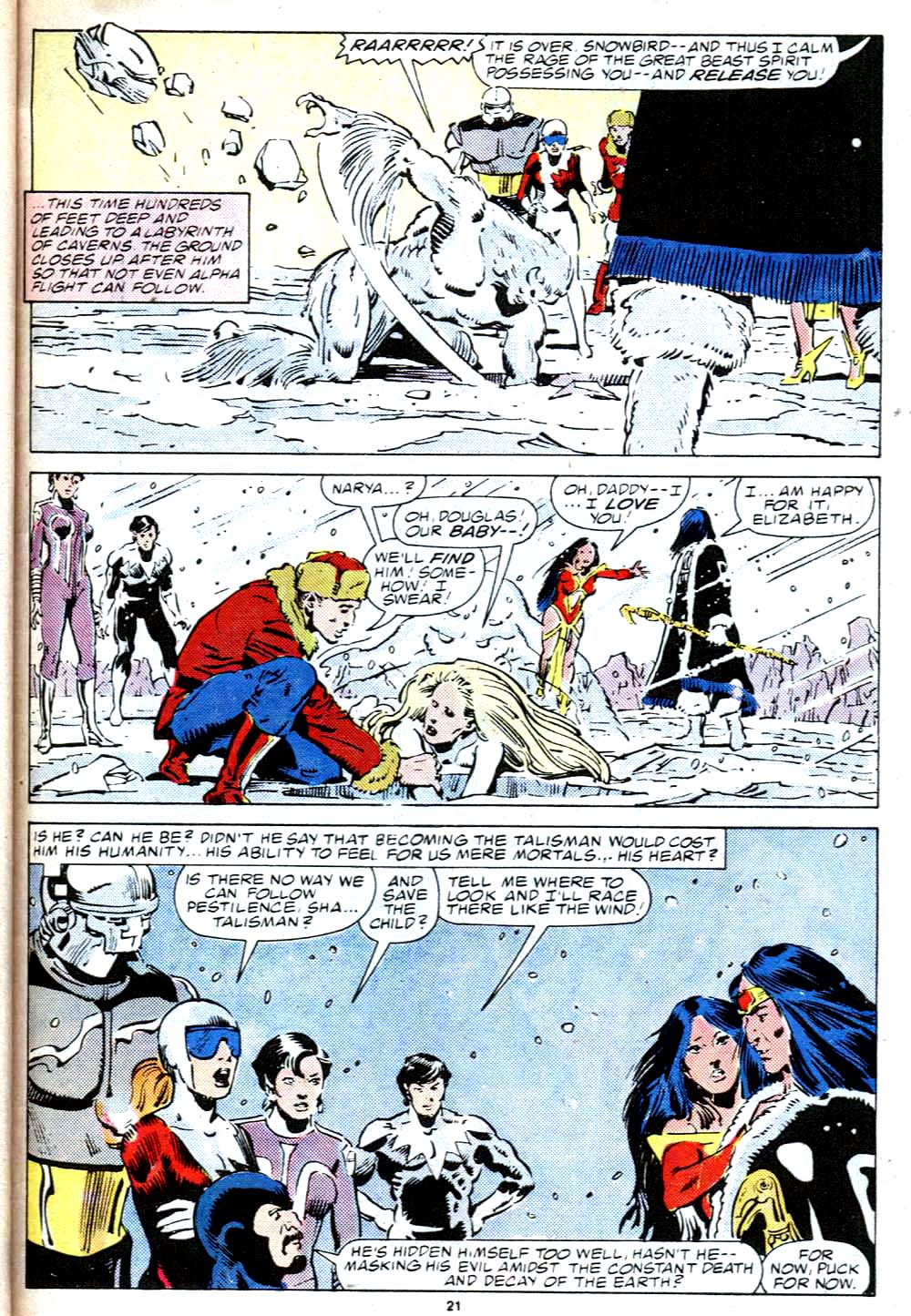Read online Alpha Flight (1983) comic -  Issue #38 - 22