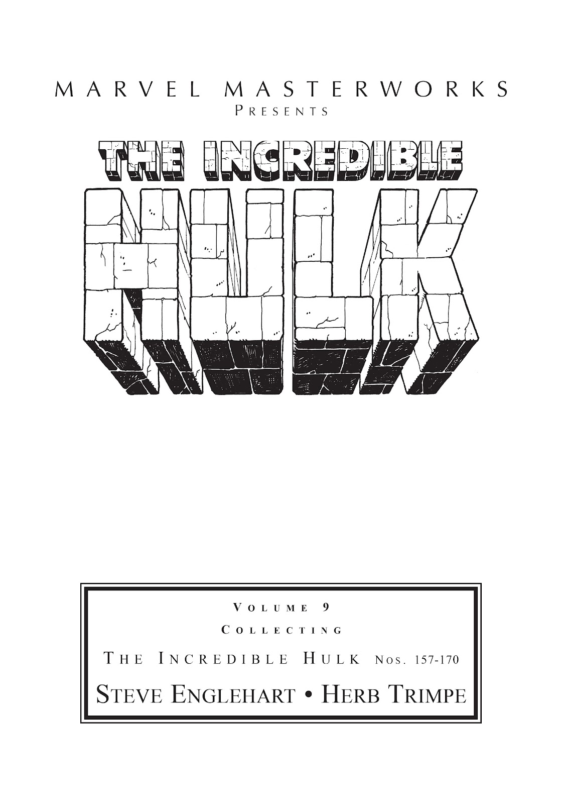 Read online Marvel Masterworks: The Incredible Hulk comic -  Issue # TPB 9 (Part 1) - 2