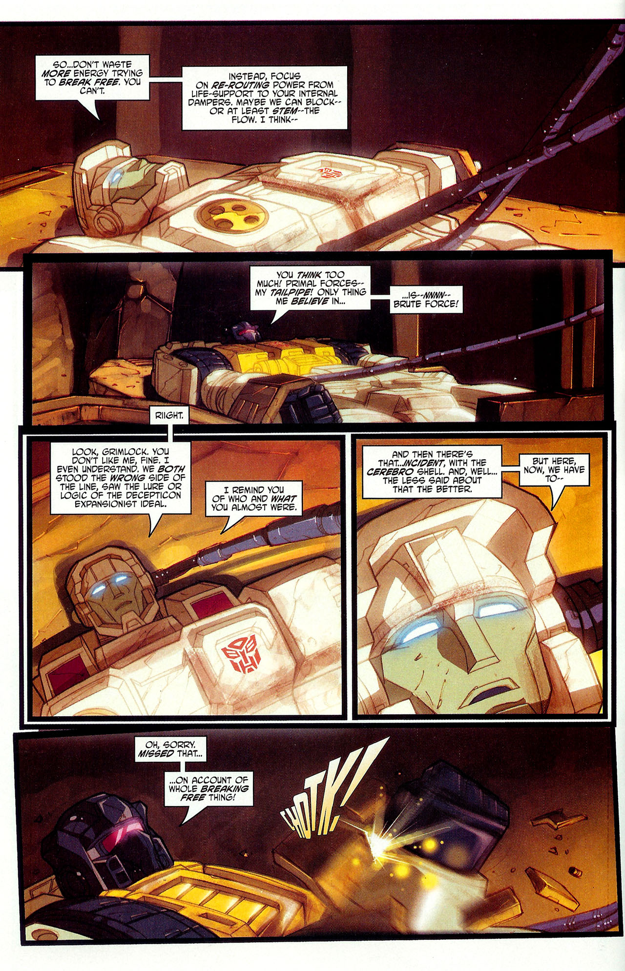 "Read online Transformers War Within: ""The Dark Ages"" comic -  Issue #6 - 10"
