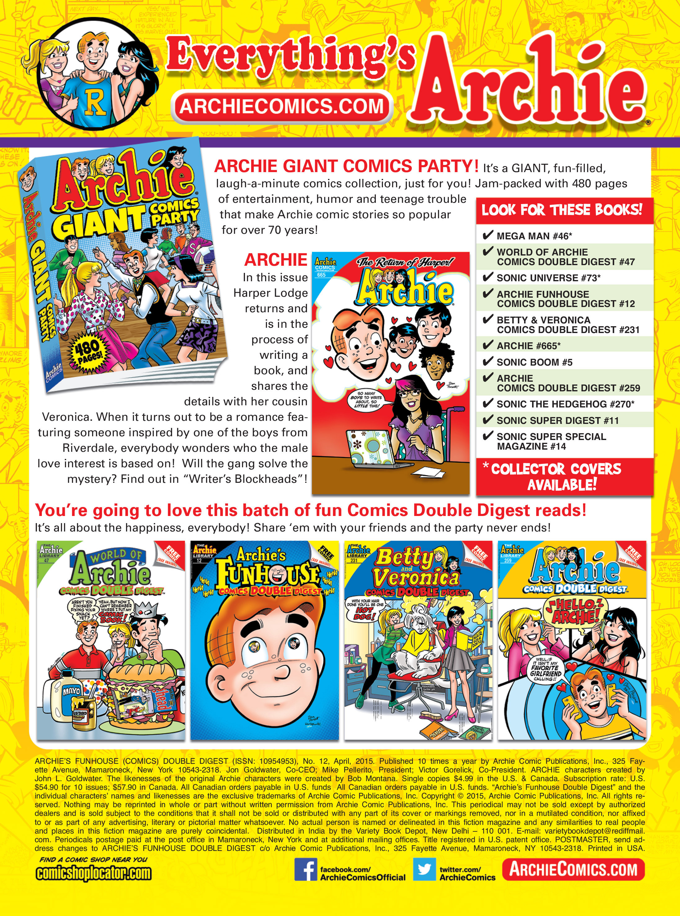 Read online Archie's Funhouse Double Digest comic -  Issue #12 - 152