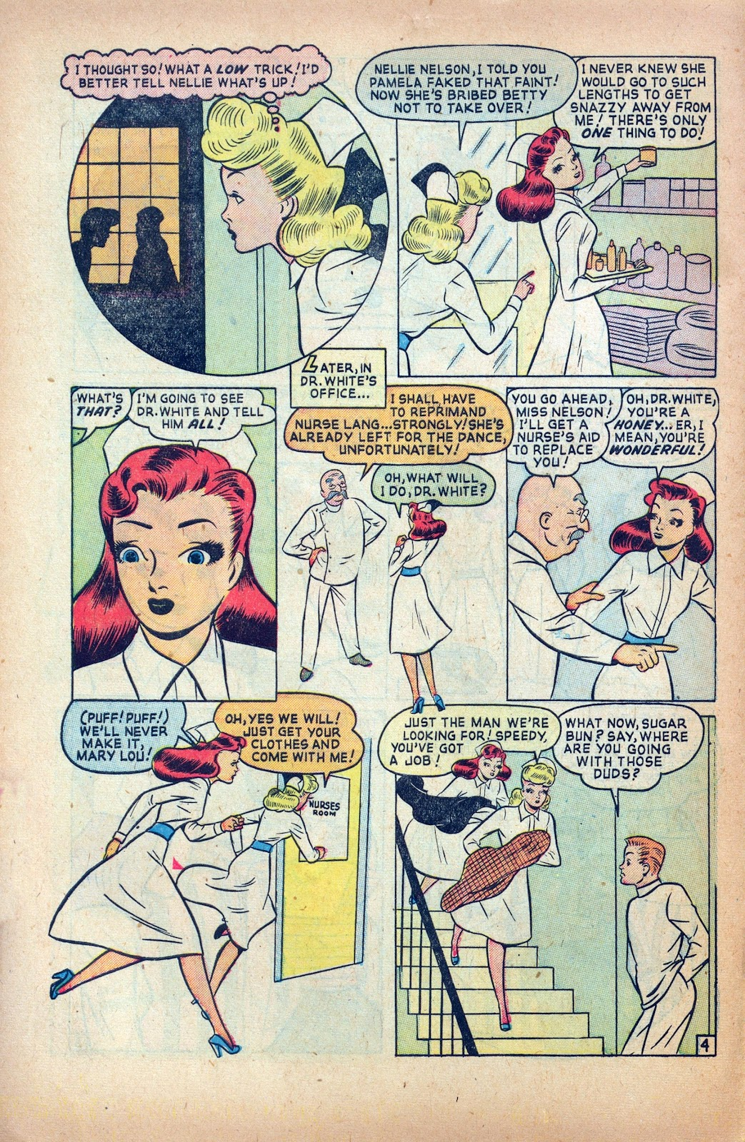 Read online Nellie The Nurse (1945) comic -  Issue #24 - 6