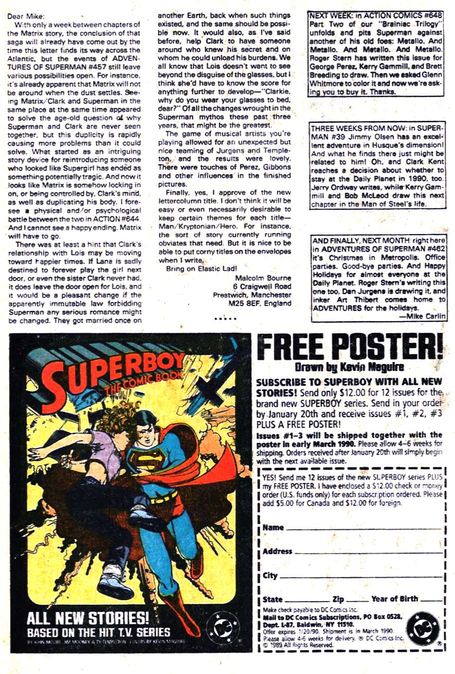 Read online Adventures of Superman (1987) comic -  Issue #461 - 25