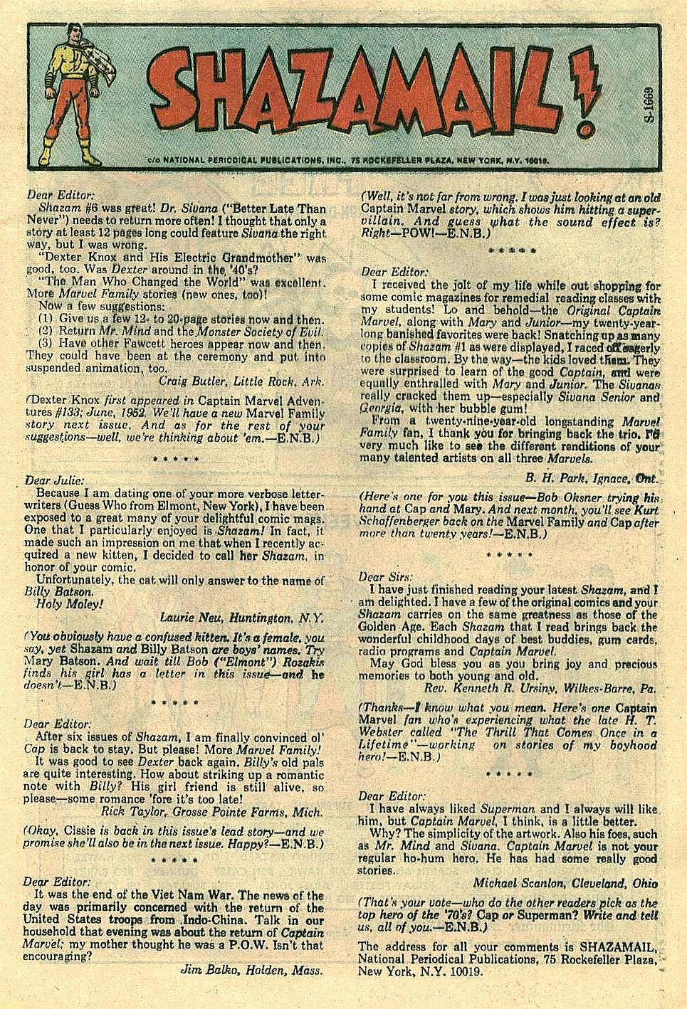 Read online Shazam! (1973) comic -  Issue #10 - 22