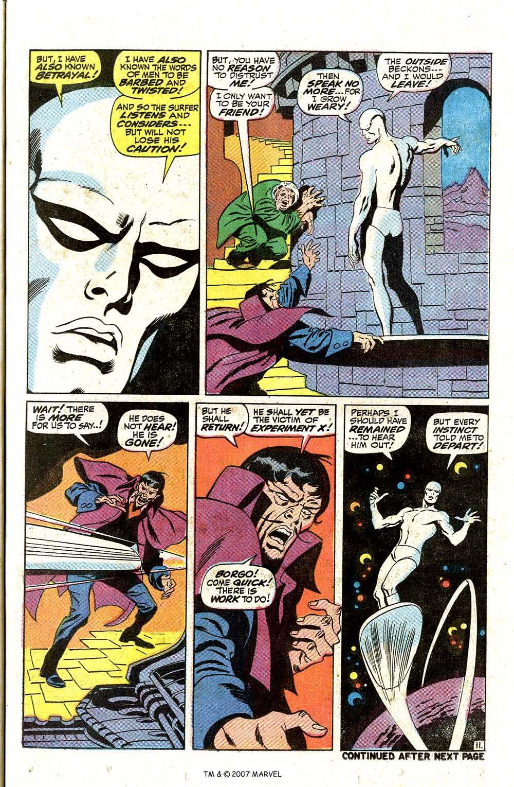 Read online Silver Surfer (1968) comic -  Issue #7 - 13