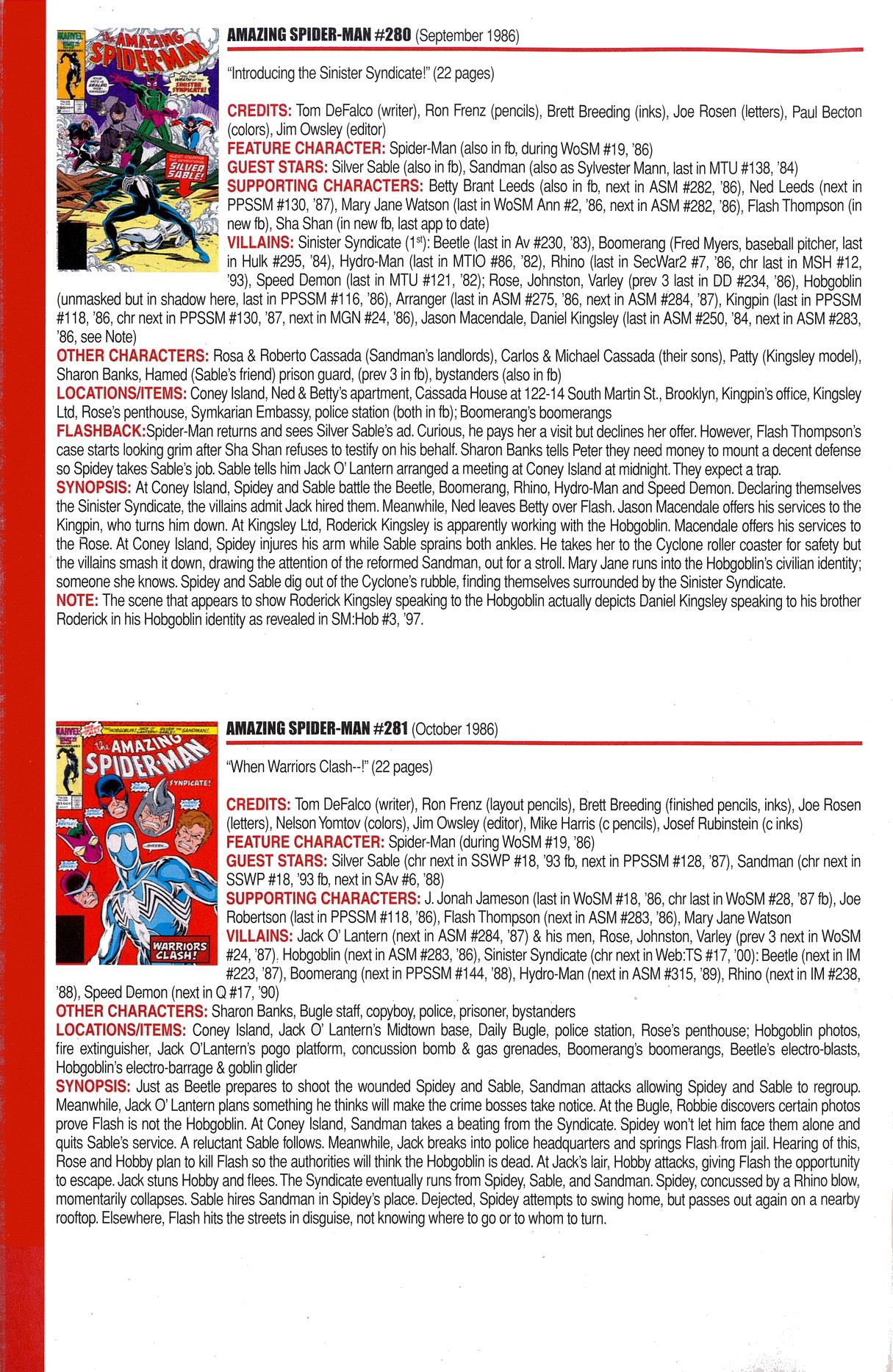 Read online Official Index to the Marvel Universe comic -  Issue #6 - 20