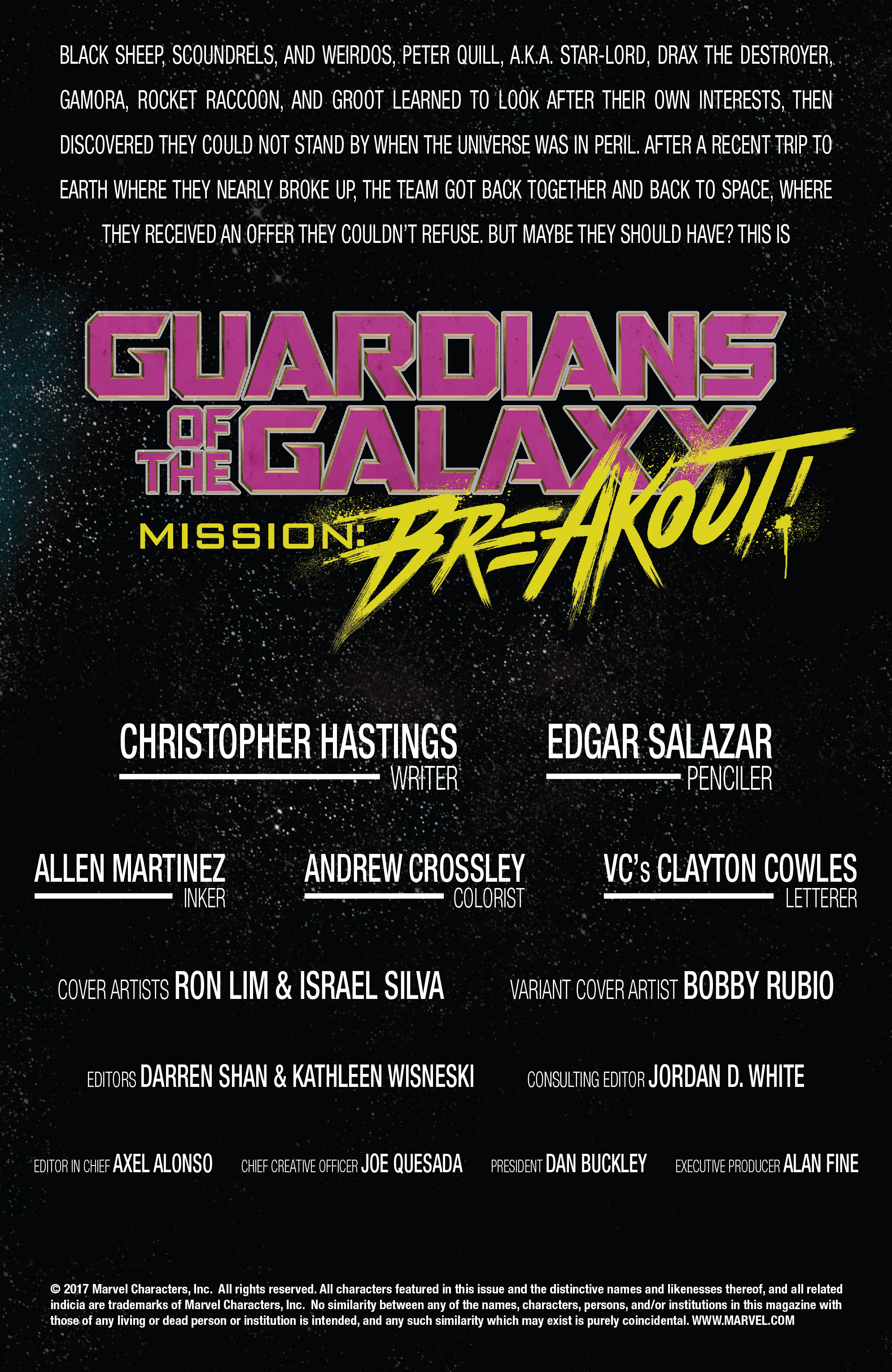 Read online Guardians of the Galaxy: Mission Breakout comic -  Issue # Full - 2